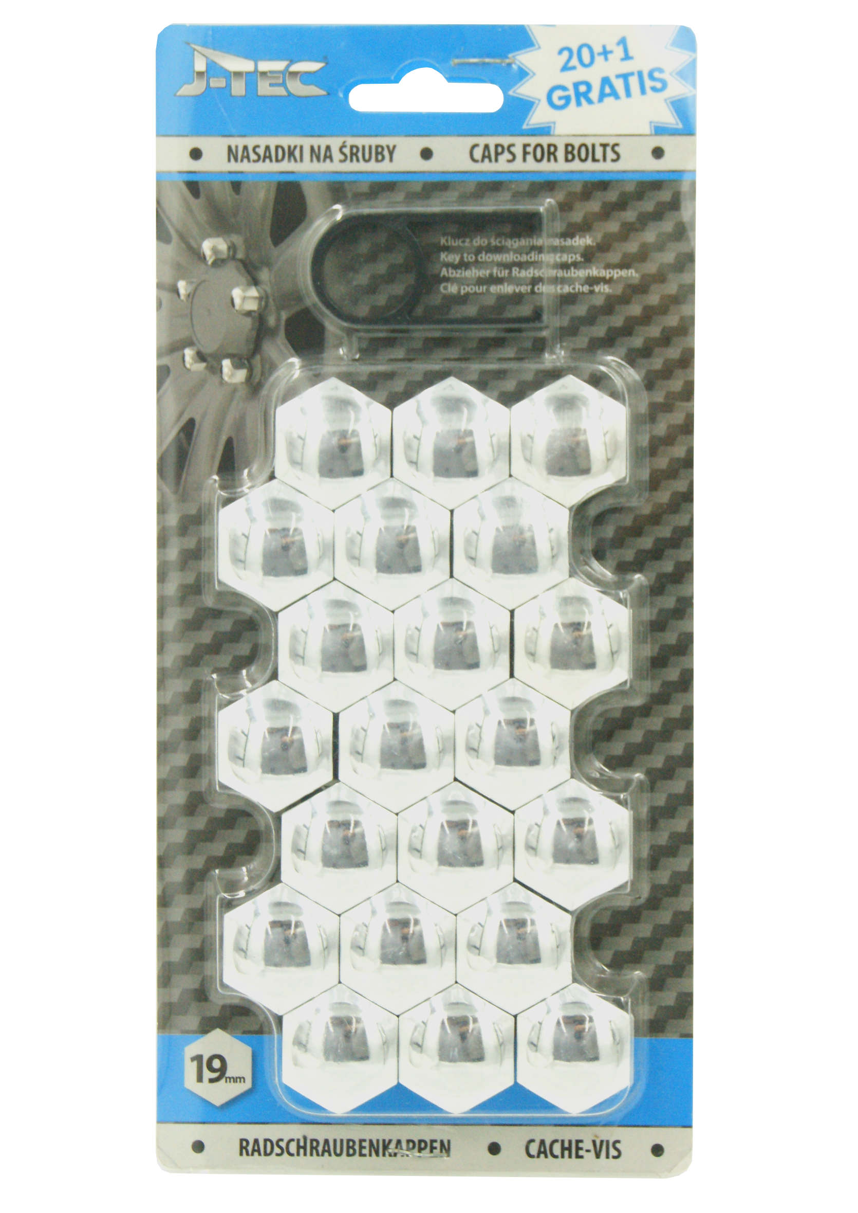 Nakładki na śruby chromowane do kół 19mm