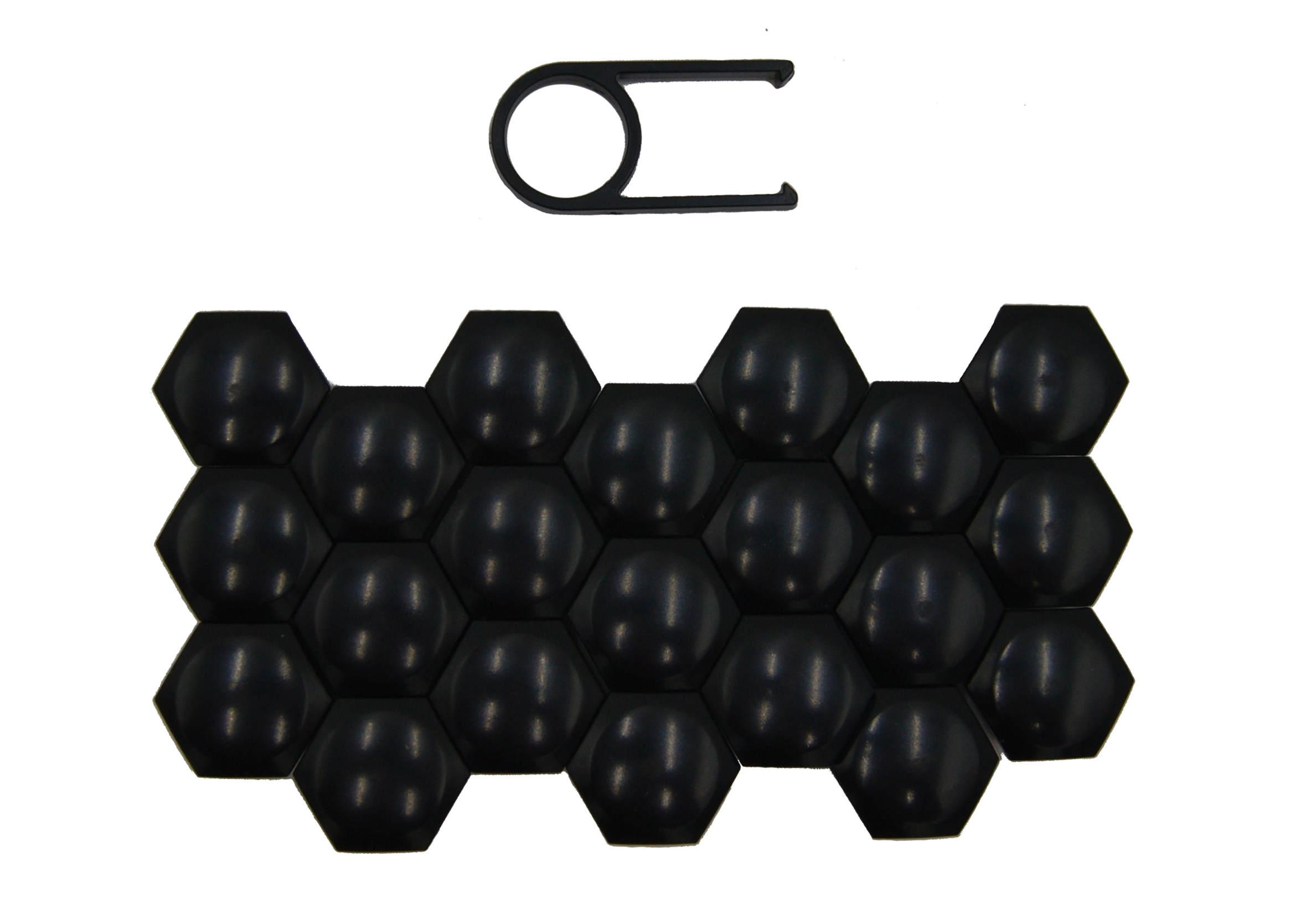 Nakładki na śruby czarne do kół 19mm