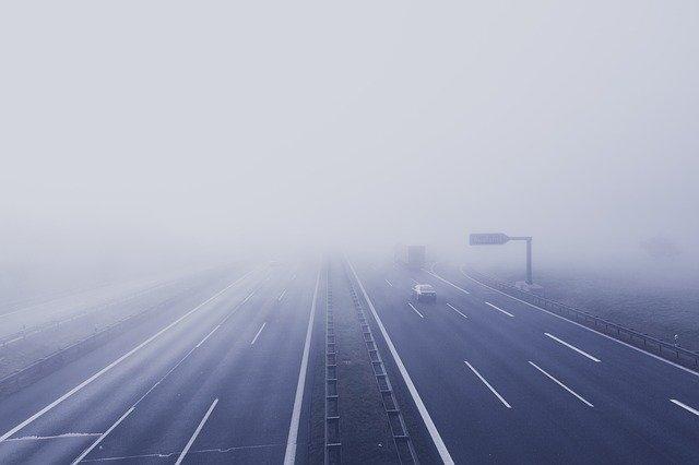 Autostrada mgła