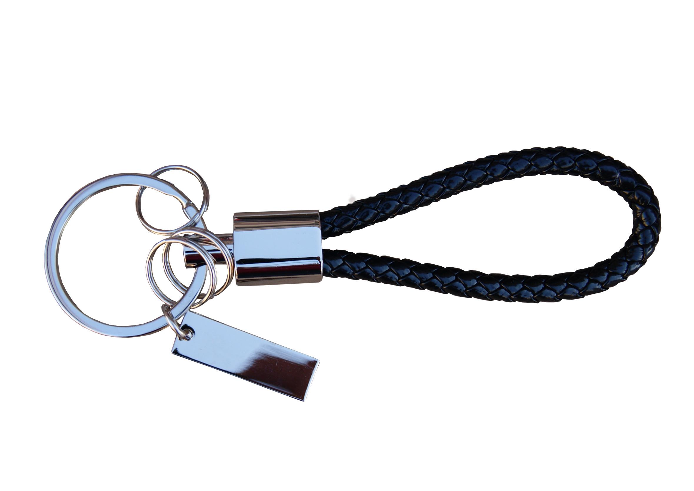 Breloczek do kluczy z Plecionym Rzemieniem