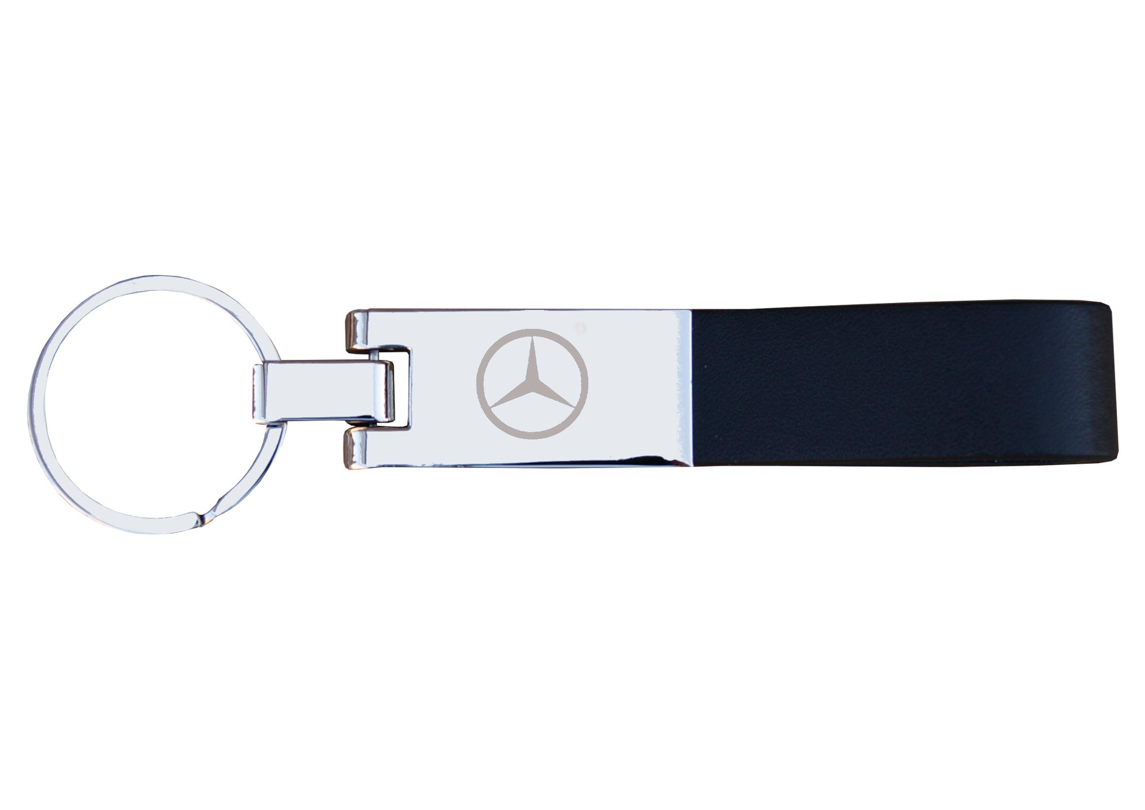 Breloczek do kluczy Skórzany Mercedes