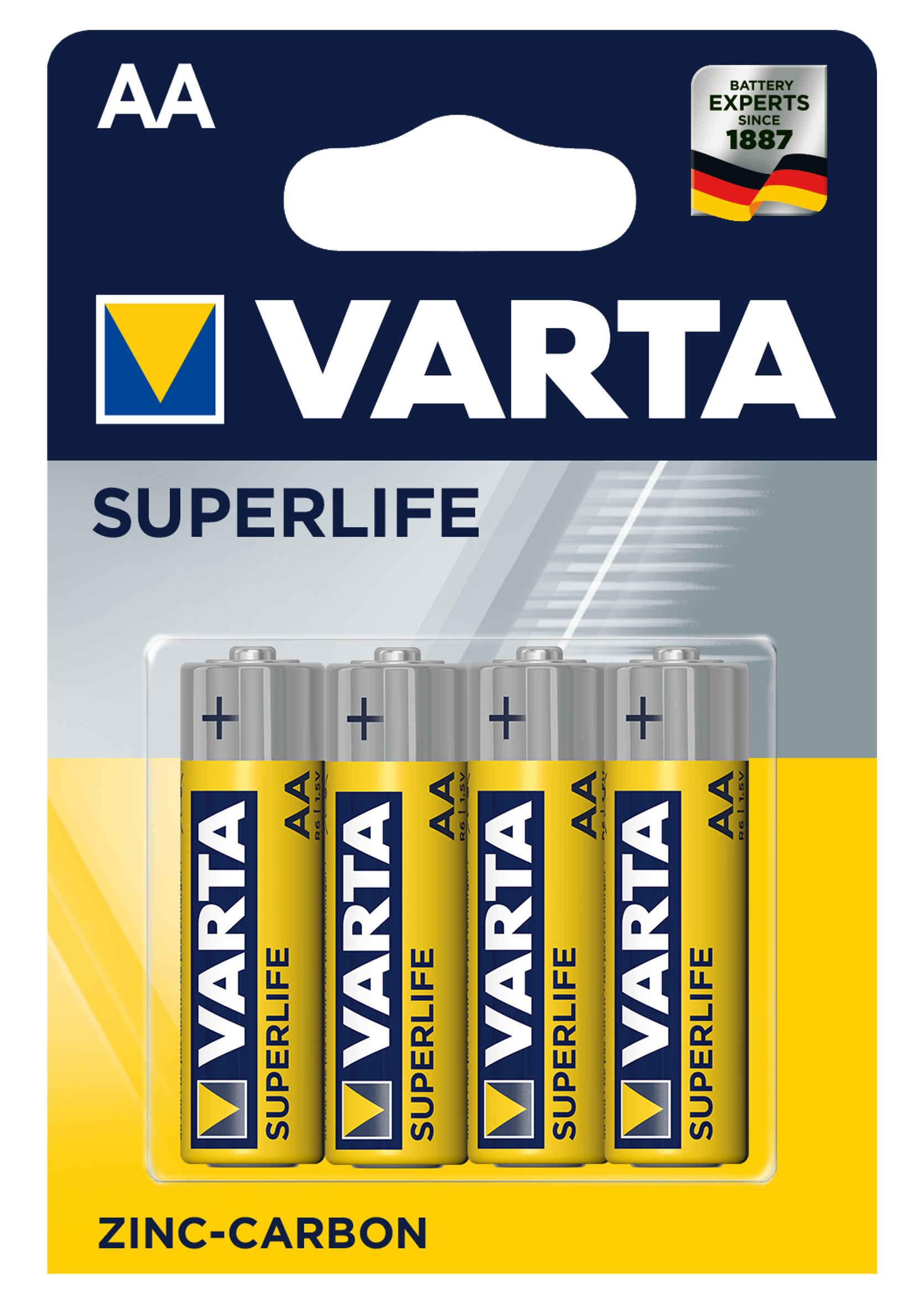 Varta Superlife Baterie AA R6 1,5V Grube Paluszki 4 szt.