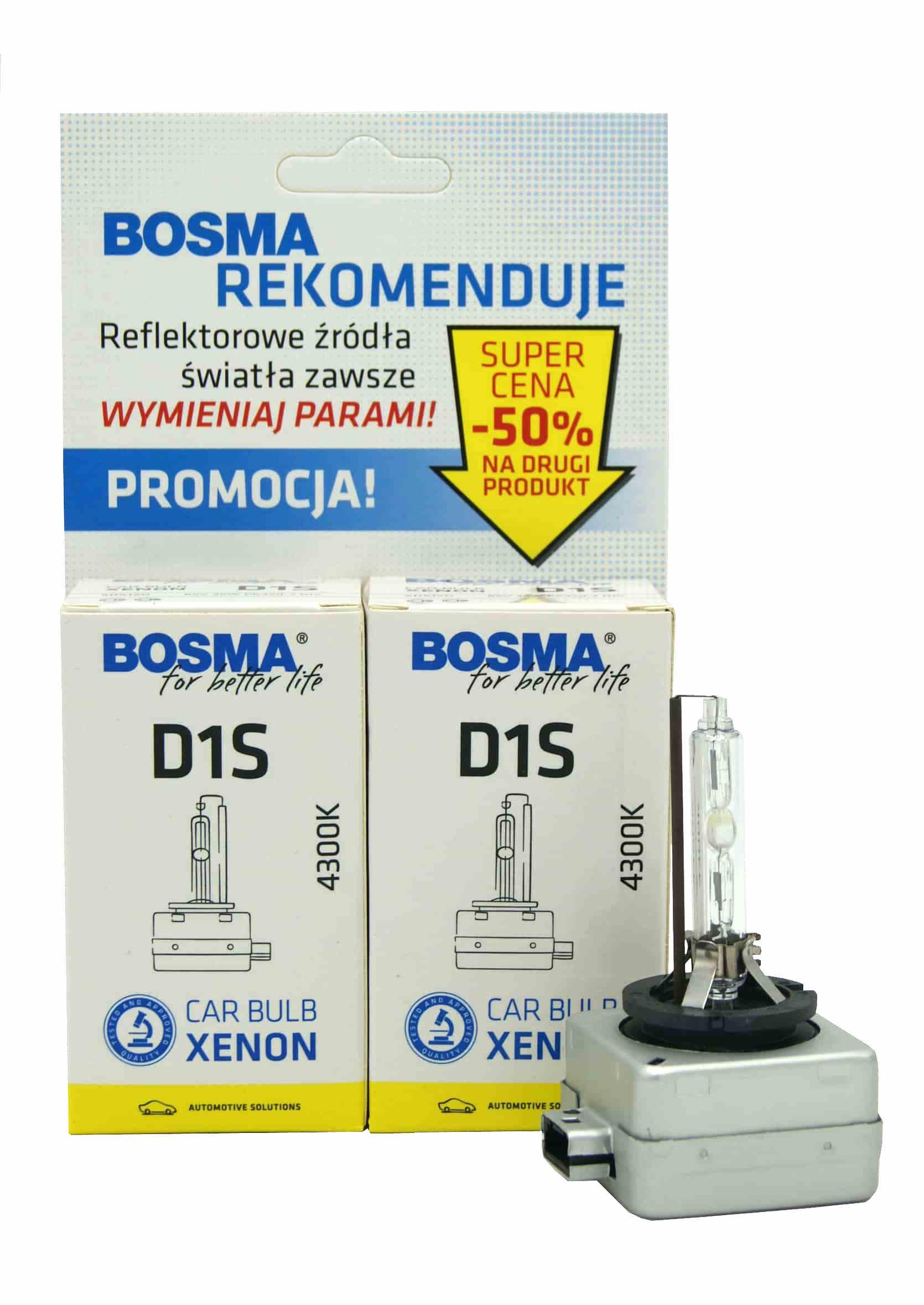 Zestaw Ksenonów Bosma D1S 4300k 85V 35W 2szt.