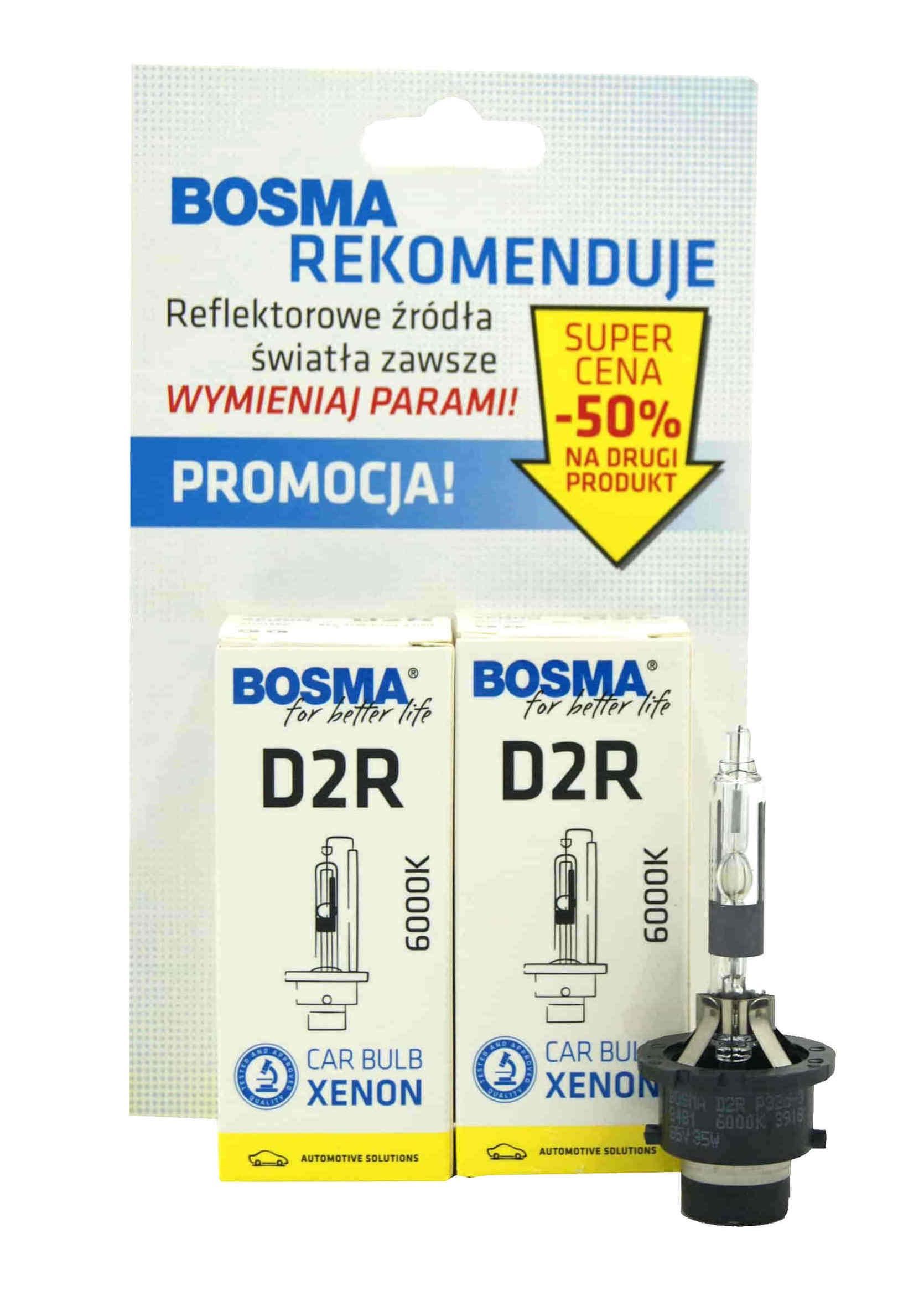 Bosma Xenon D2R 6000K 85V 35W P32d-3 Zestaw Żarników Ksenonowych 2szt.