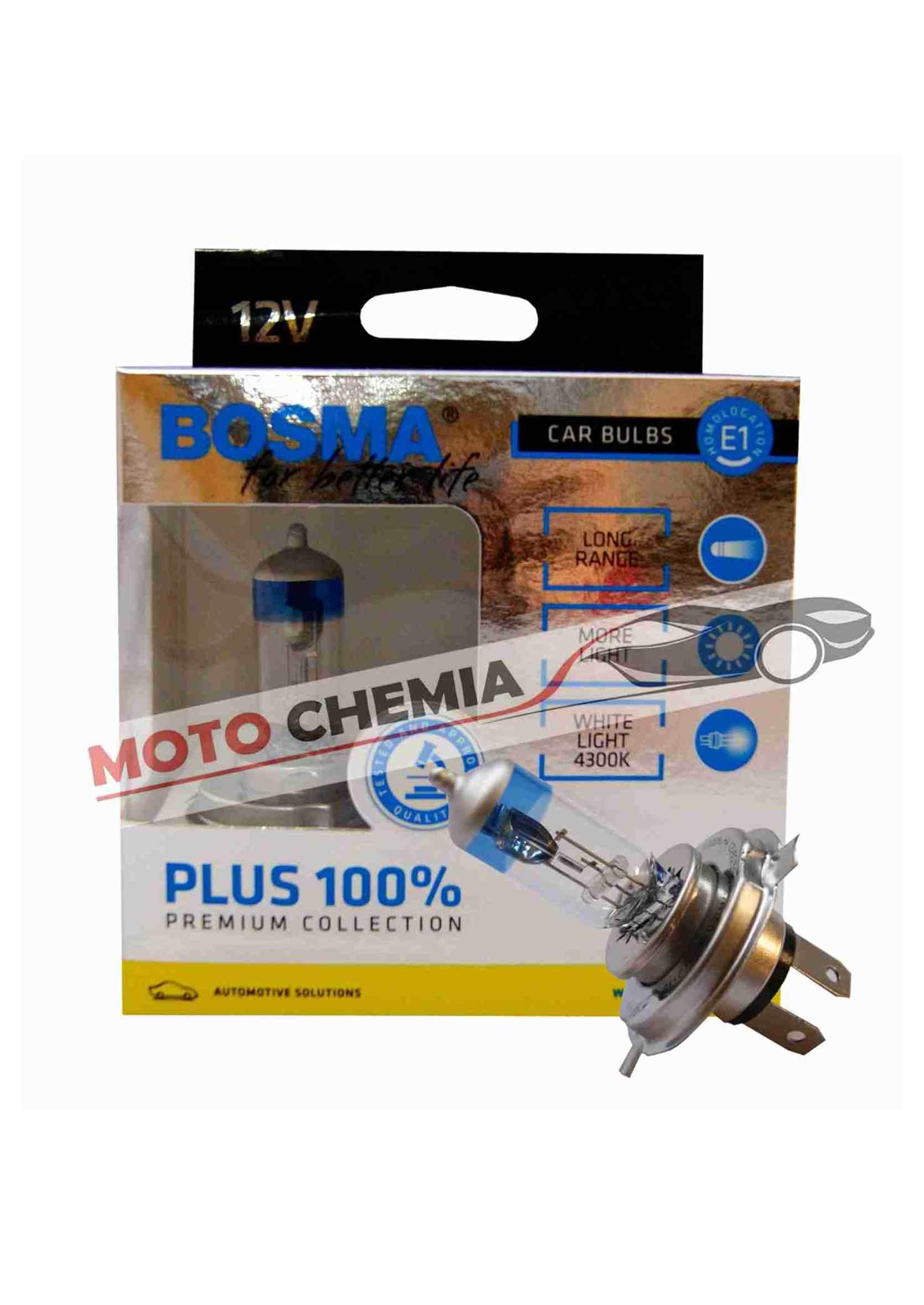 Bosma Premium Plus H1 100% 12V 55W Komplet Żarówek