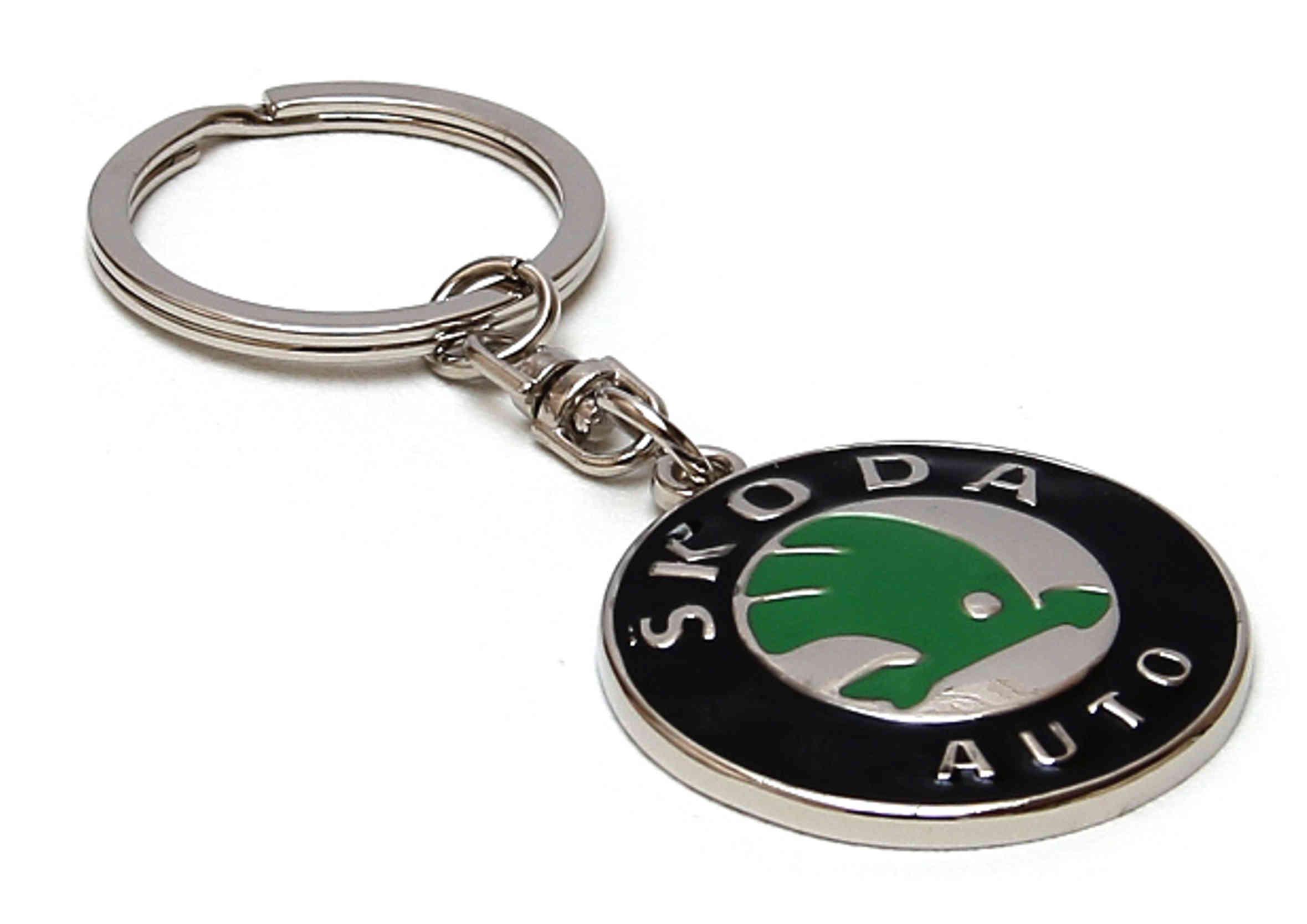 Brelok Metalowy do Kluczyków samochodowych Skoda