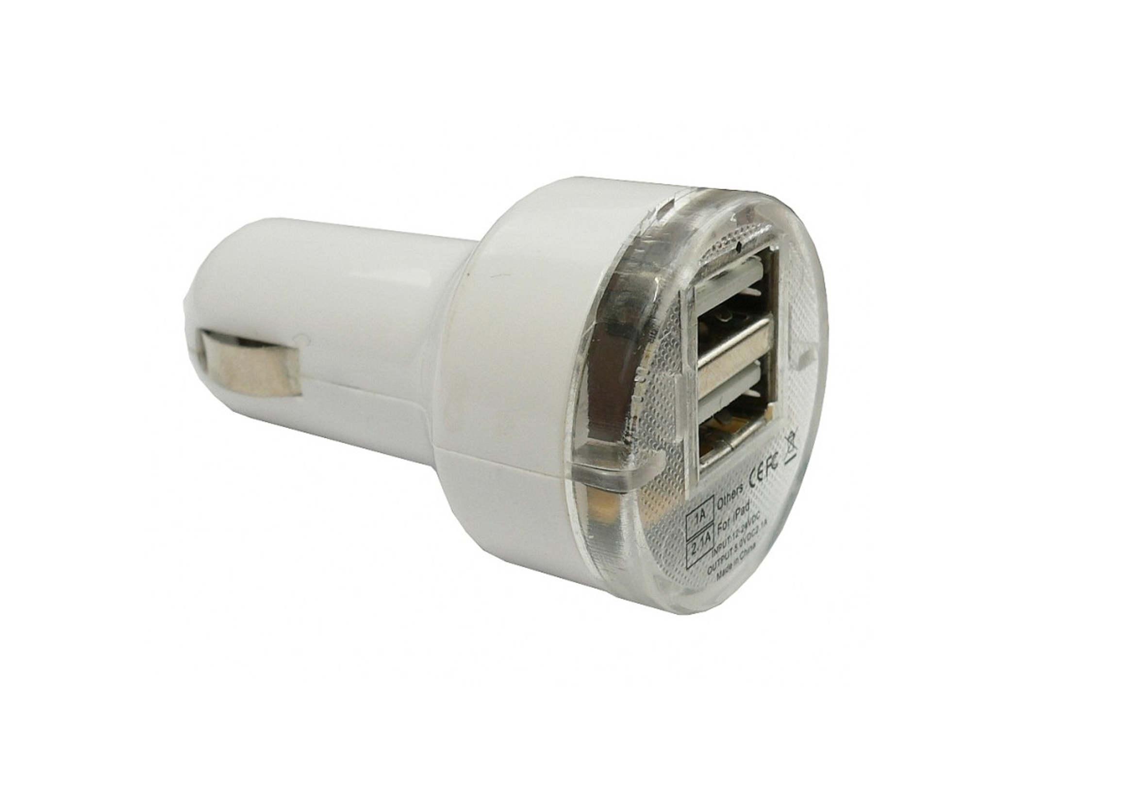 Ładowarka Samochodowa USB x 2 do zapalniczki 12-24V