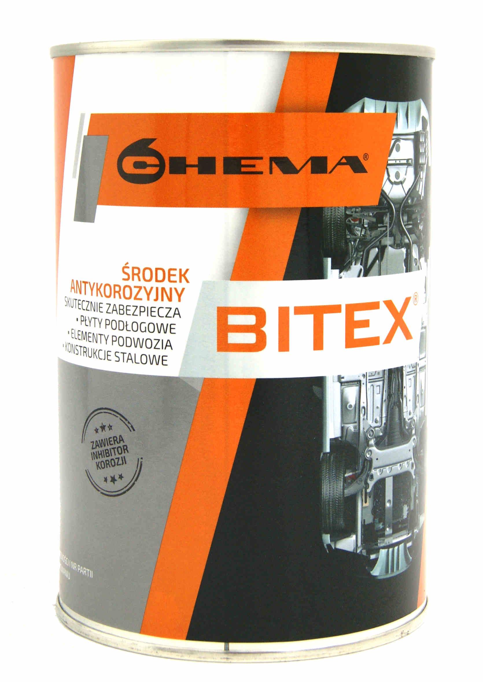 Chema Bitex 1L Środek Bitumiczny Antykorozyjny do Konserwacji Podwozia na Pędzel