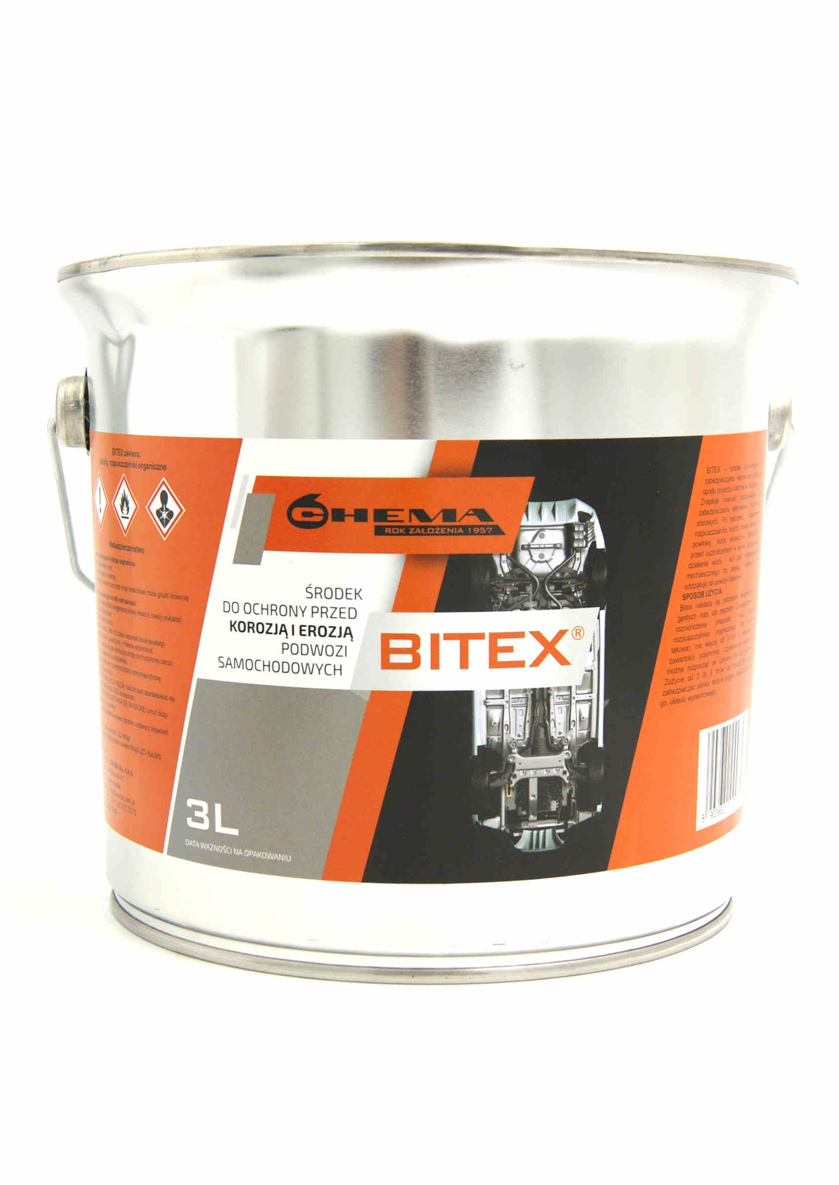 Chema Bitex 3L Środek Bitumiczny Antykorozyjny do Konserwacji Podwozia na Pędzel