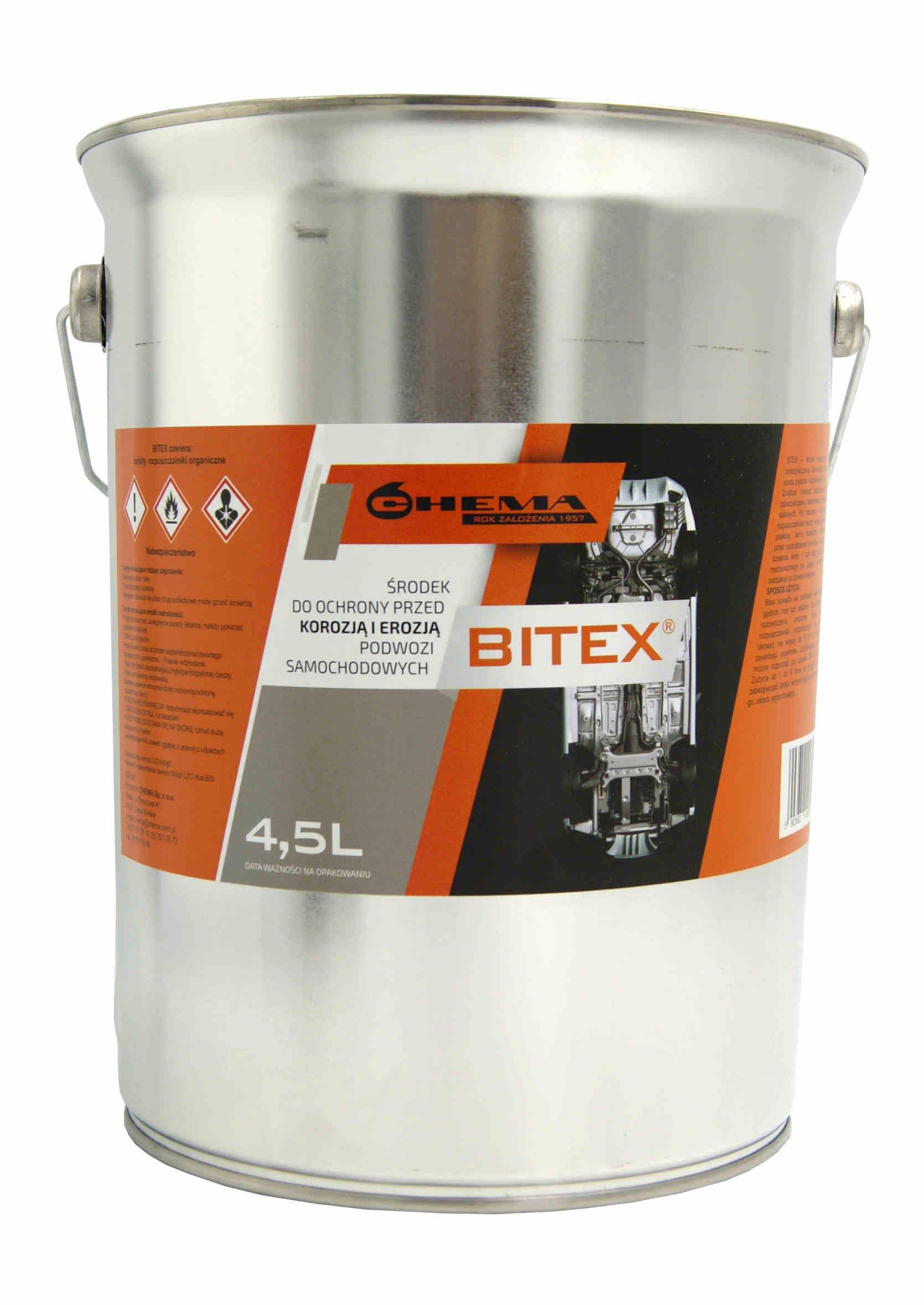 Chema Bitex 4,5L Środek Bitumiczny Antykorozyjny do Konserwacji Podwozia na Pędzel