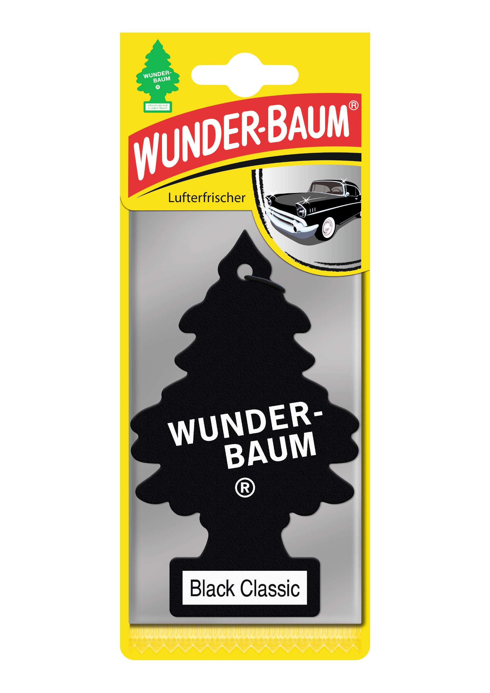 Wunder-Baum Black Classic Choinka zapachowa  zawieszka