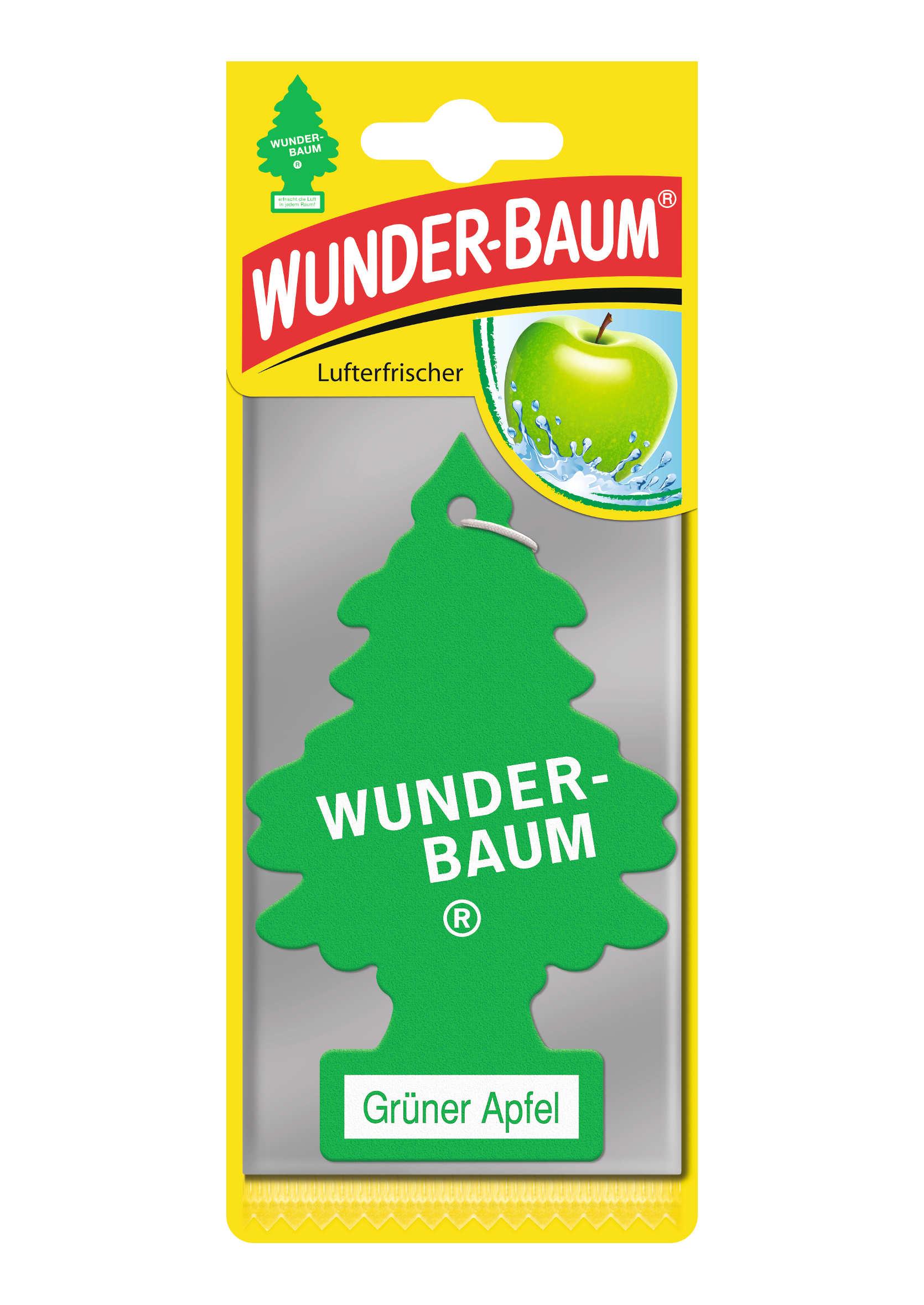 Zapachowa Choinka do auta Wunder Baum Zielone Jabłko