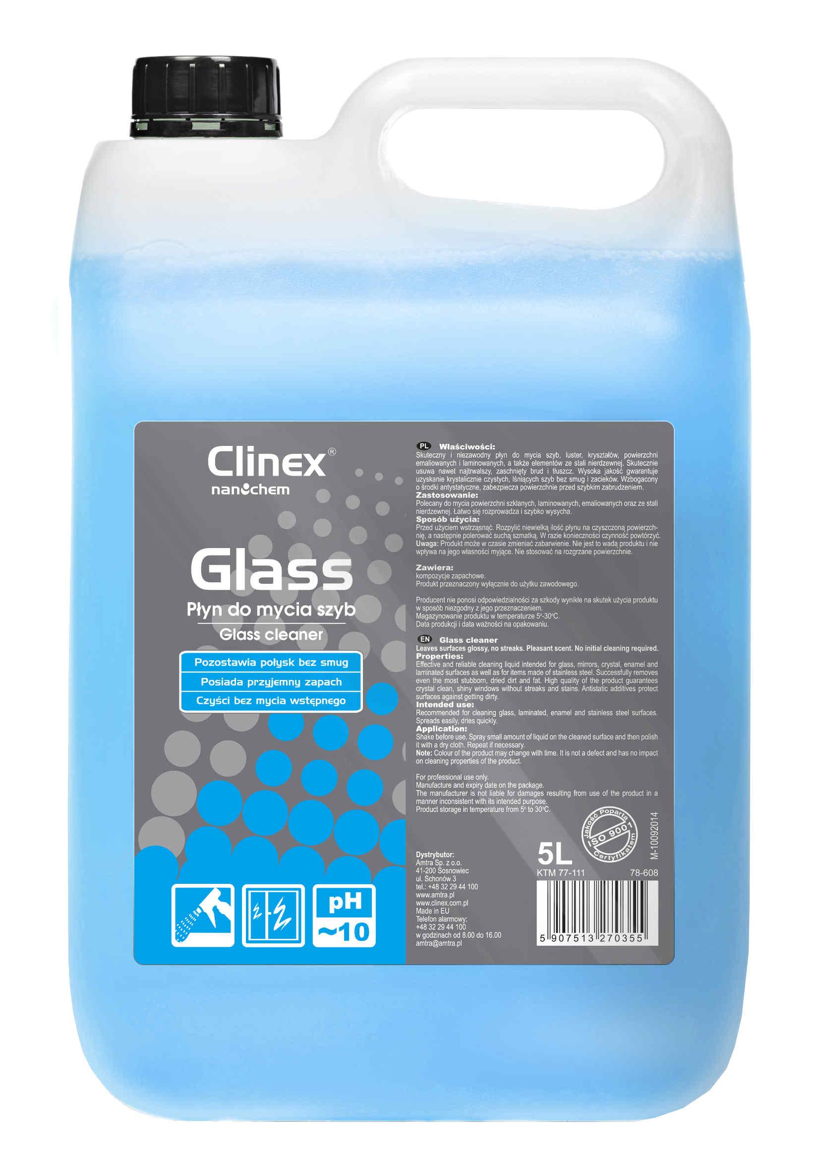 Clinex Glass do Powierzchni Szklanych 5L