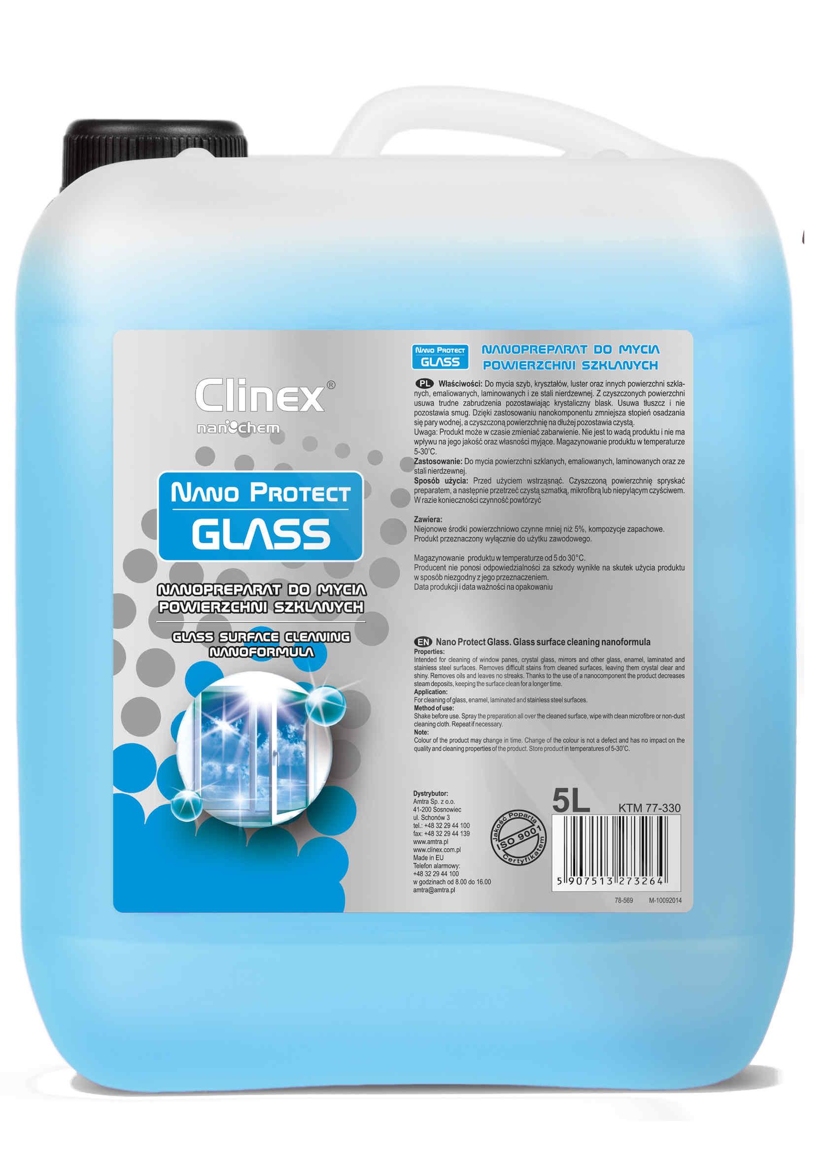 Preparat Czyszczący do Luster, Szyb, Kryształów - Clinex Protect Glass 5L