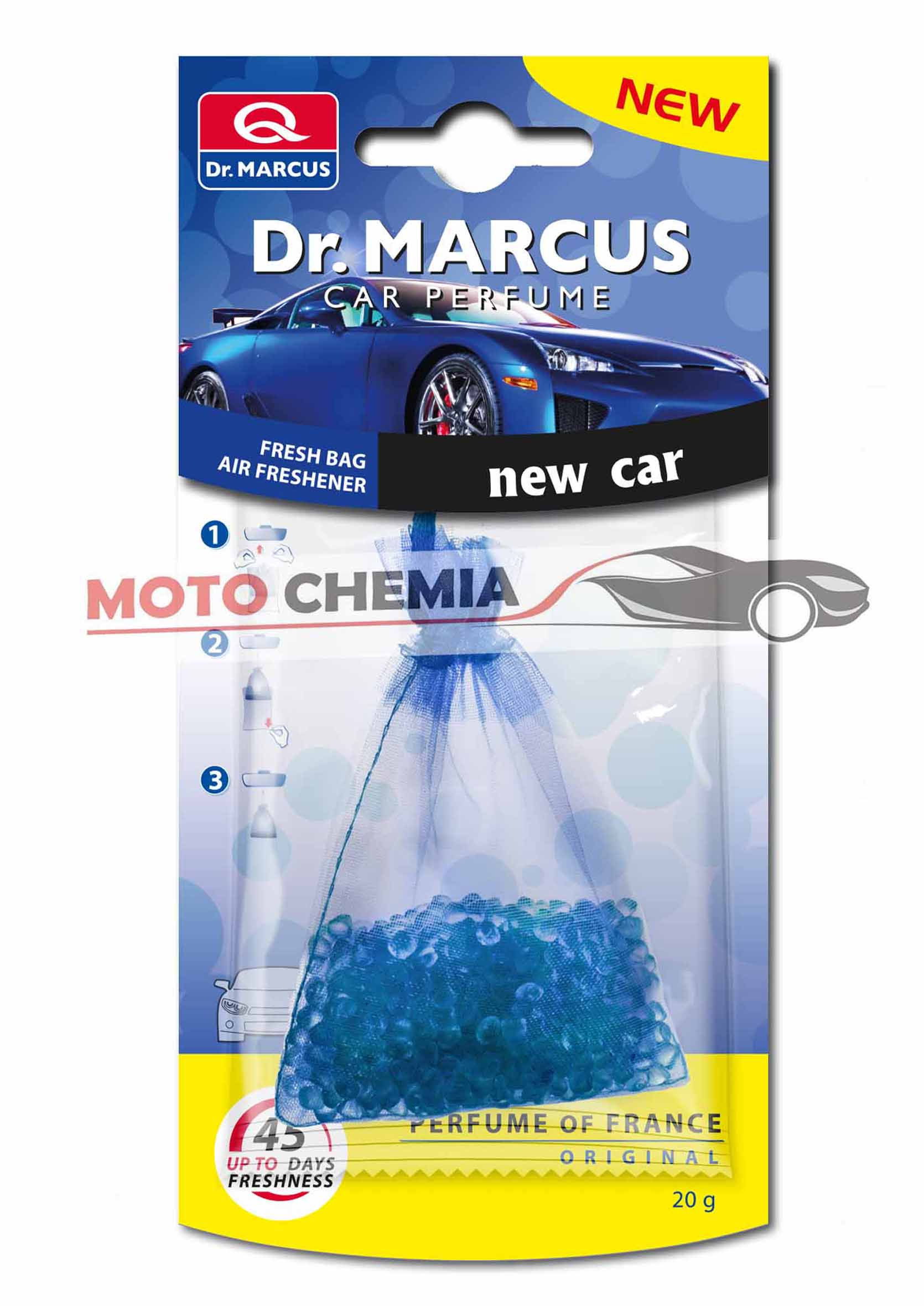 Dr. Marcus Fresh Bag  Sakiewka Zapachowa New Car 20g