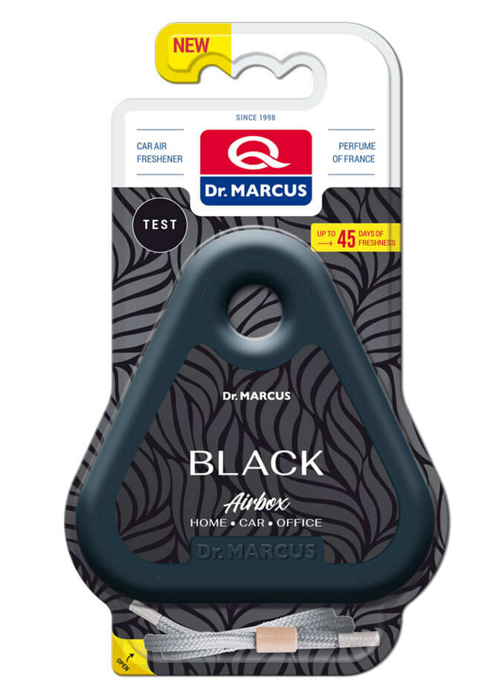 Dr Marcus Airbox Black Odświeżacz zapach samochodowy pod siedzenie