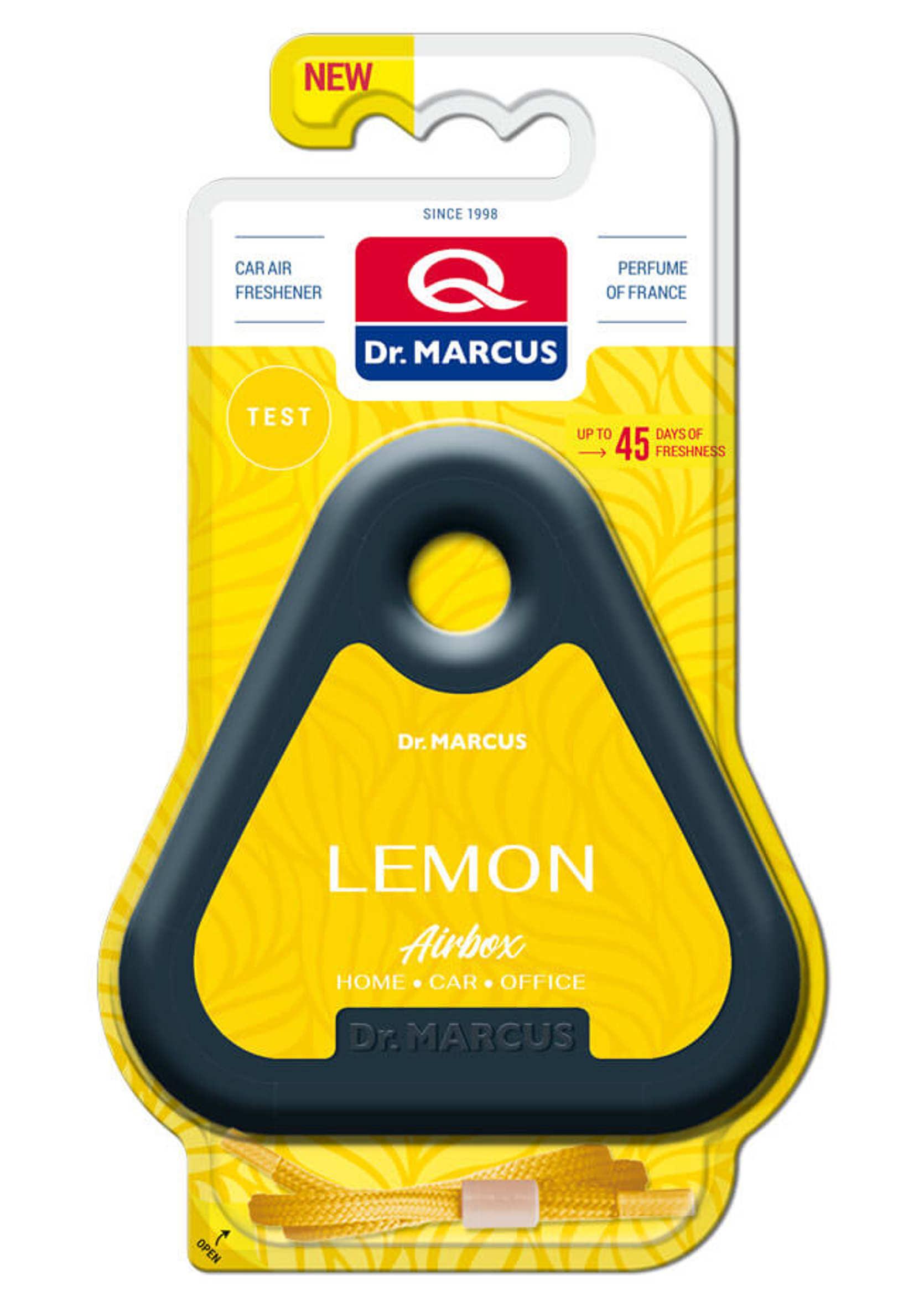 Dr Marcus Airbox Lemon Odświeżacz zapach samochodowy pod siedzenie