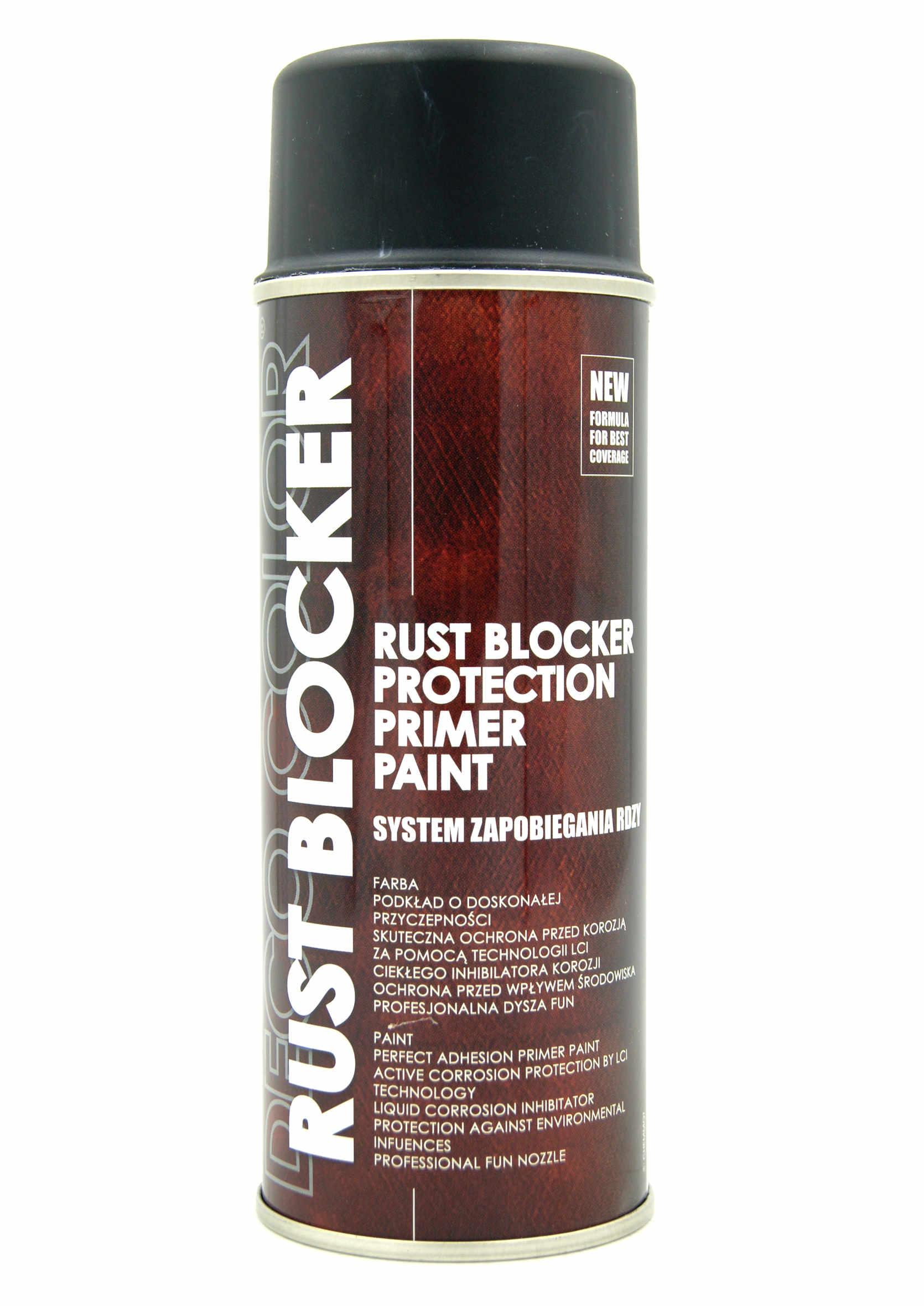 Deco Color Rust Blocker Czarny 9005 400ml Farba Podkładowa Antykorozyjna