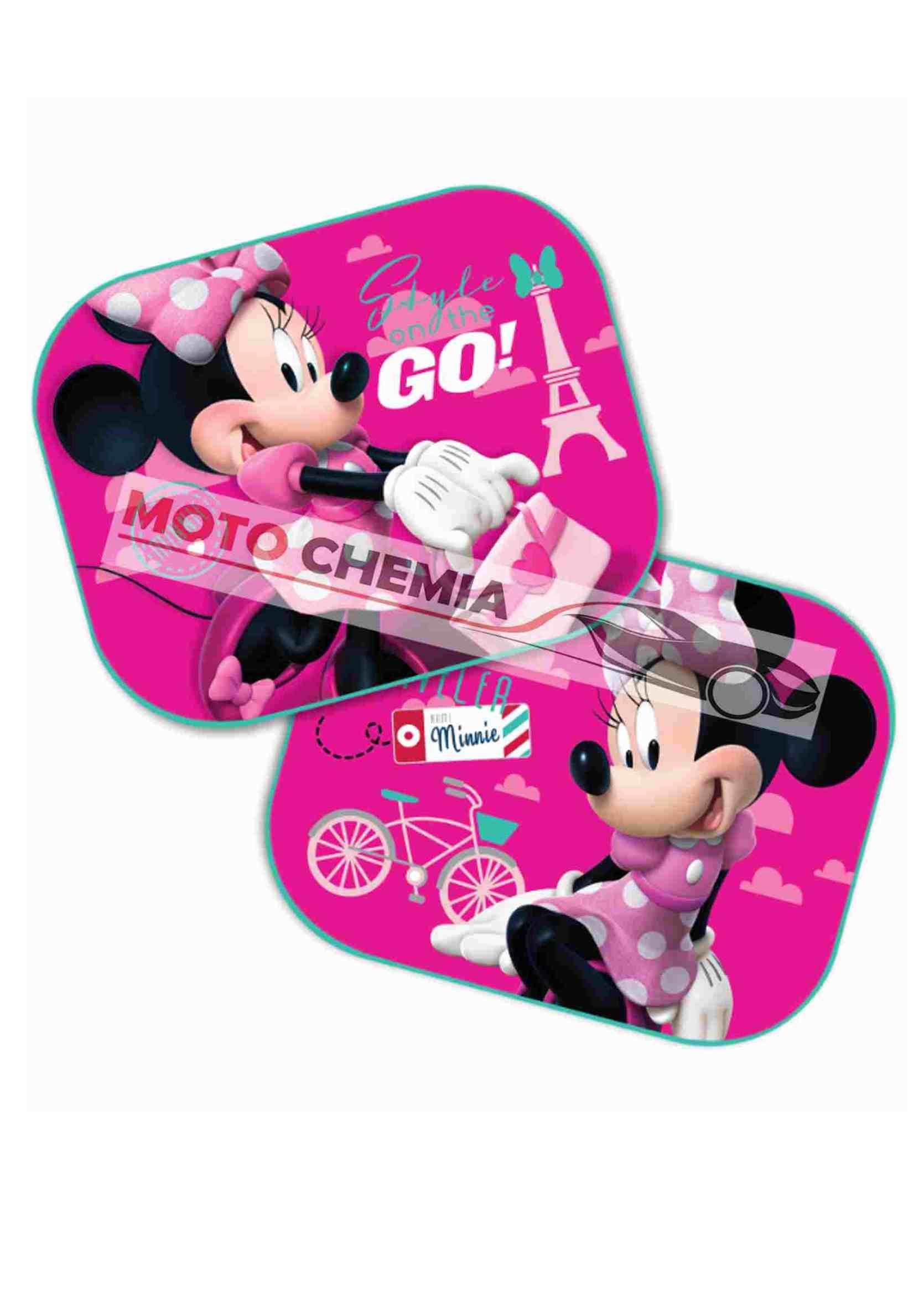 Disney Minnie Mouse Zasłonki Przeciwsłoneczne na Przyssawkę 2szt.