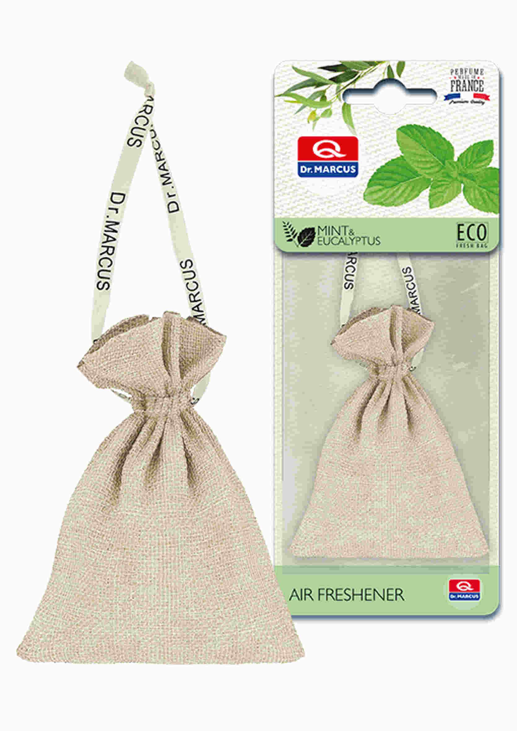 Dr. Marcus Fresh Bag Eco Mięta Eukaliptus 20g Zapach Samochodowy Sakiewka