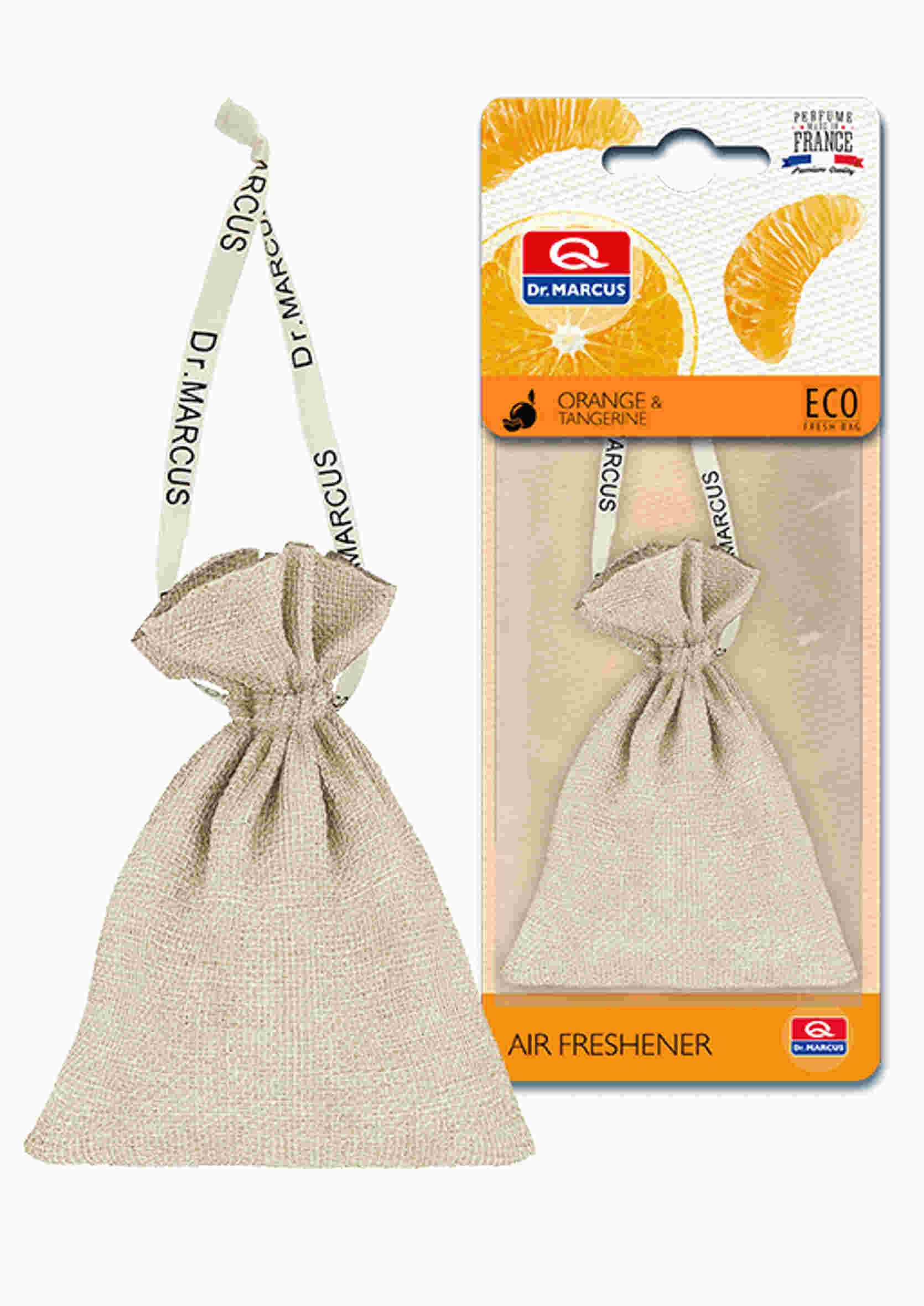 Dr. Marcus Fresh Bag Eco Pomarańcz Mandarynka 20g Zapach Samochodowy Sakiewka