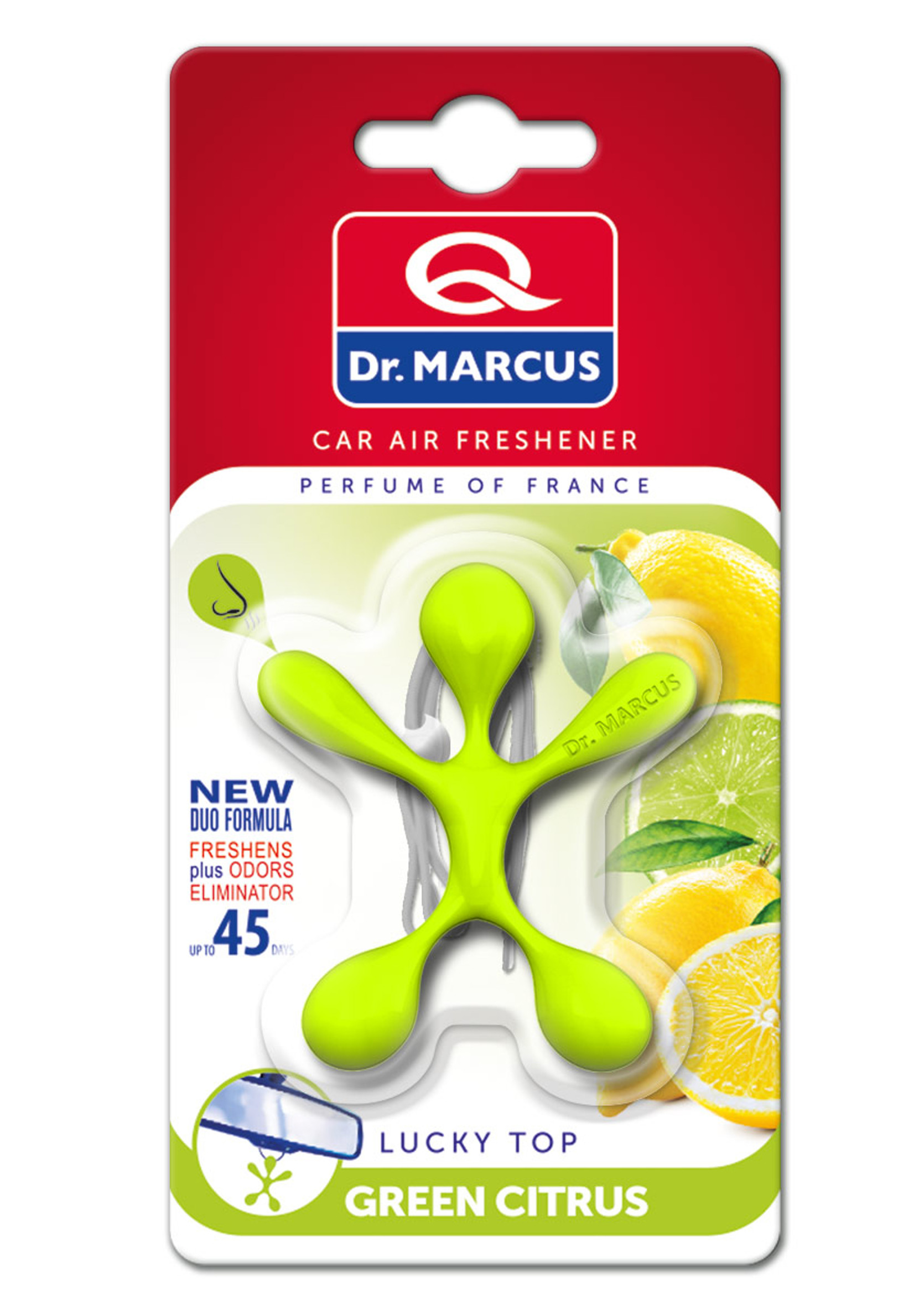 Dr Marcus Lucky Top Green Citrus Zapach Samochodowy