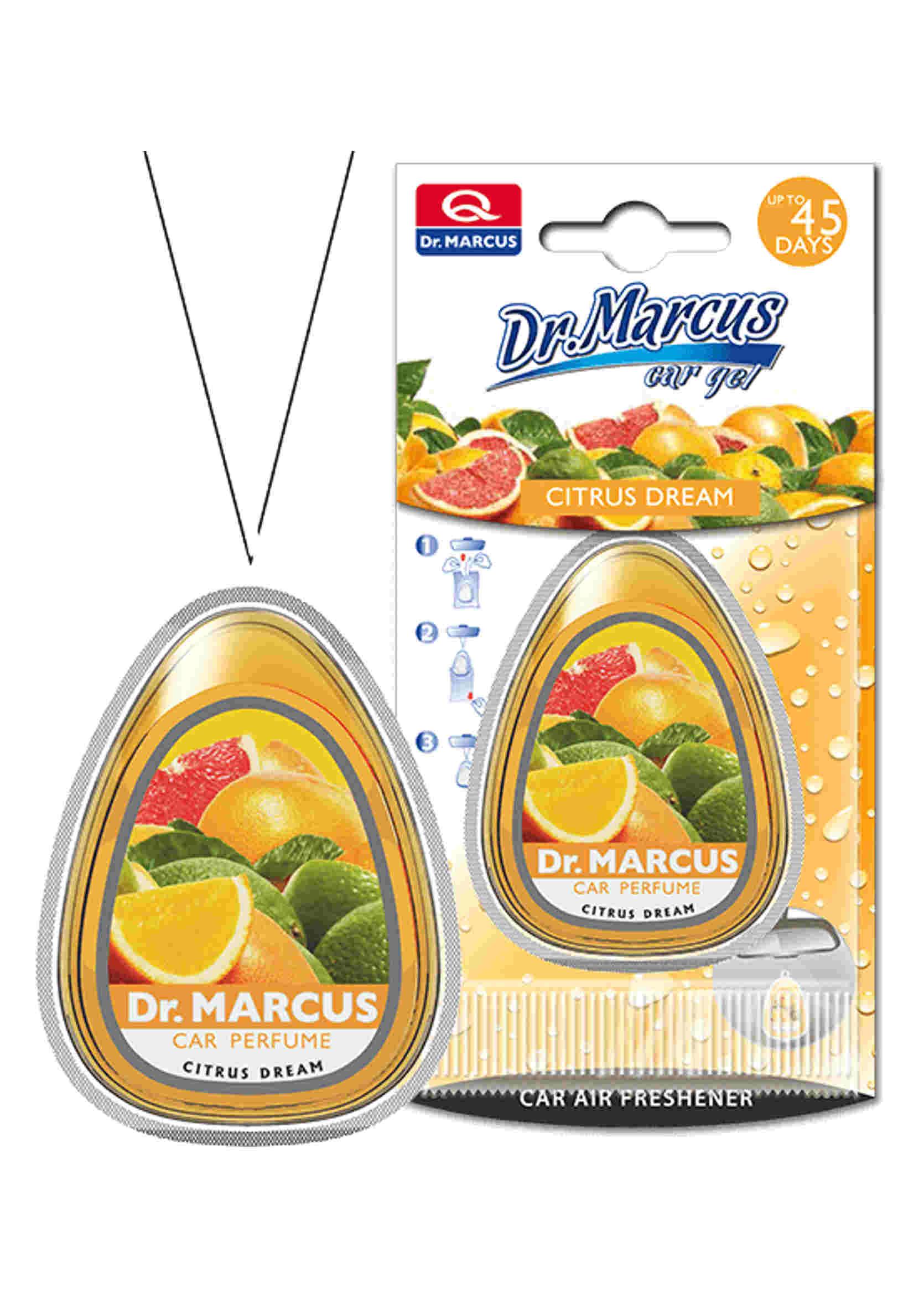 Dr. Marcus Car Gel Citrus Dream 10ml Żelowy Odświeżacz Powietrza Cytrusowy