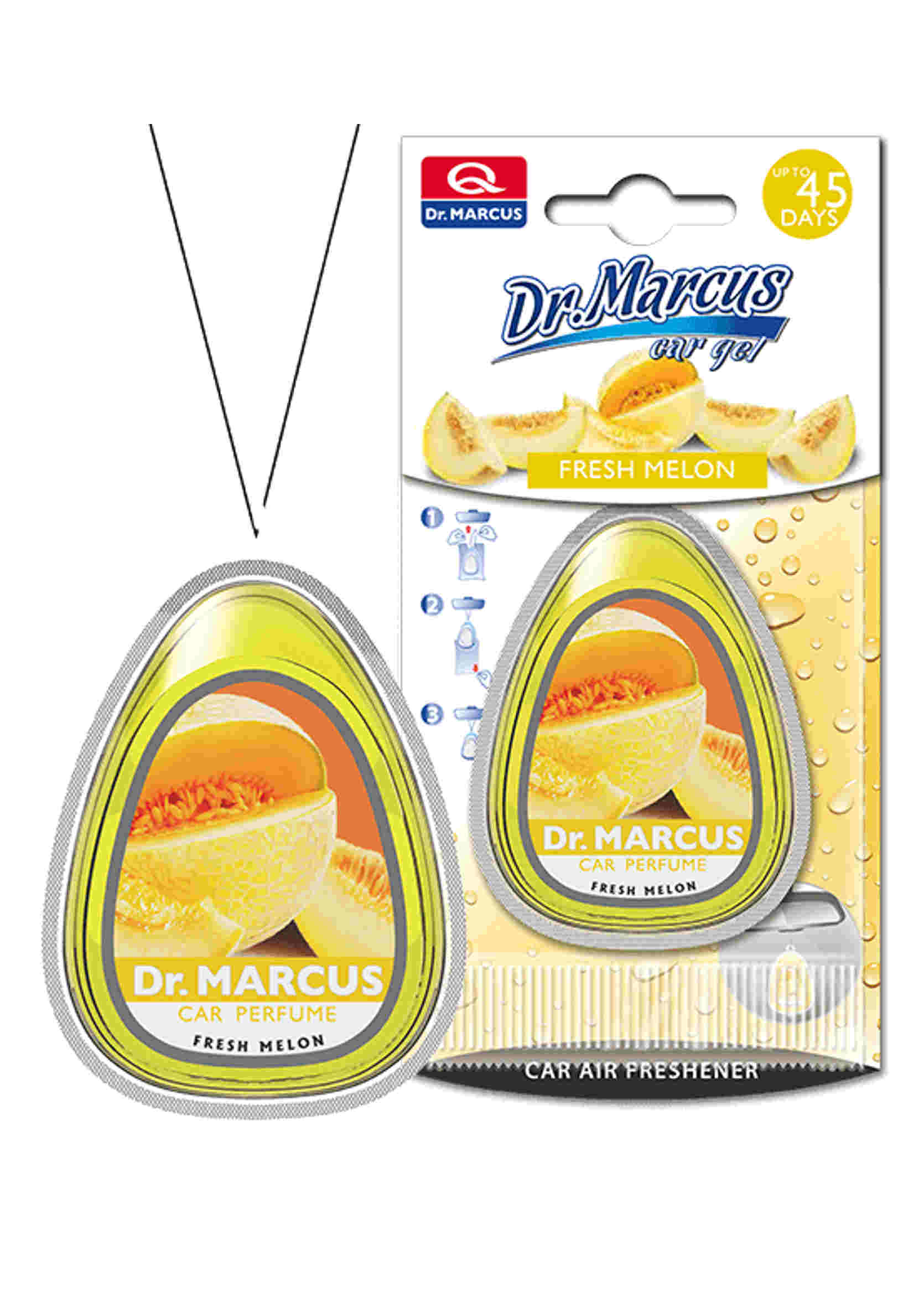 Dr. Marcus Car Gel Odświeżacz powietrza do samochodu Fresh Melon 10 ml