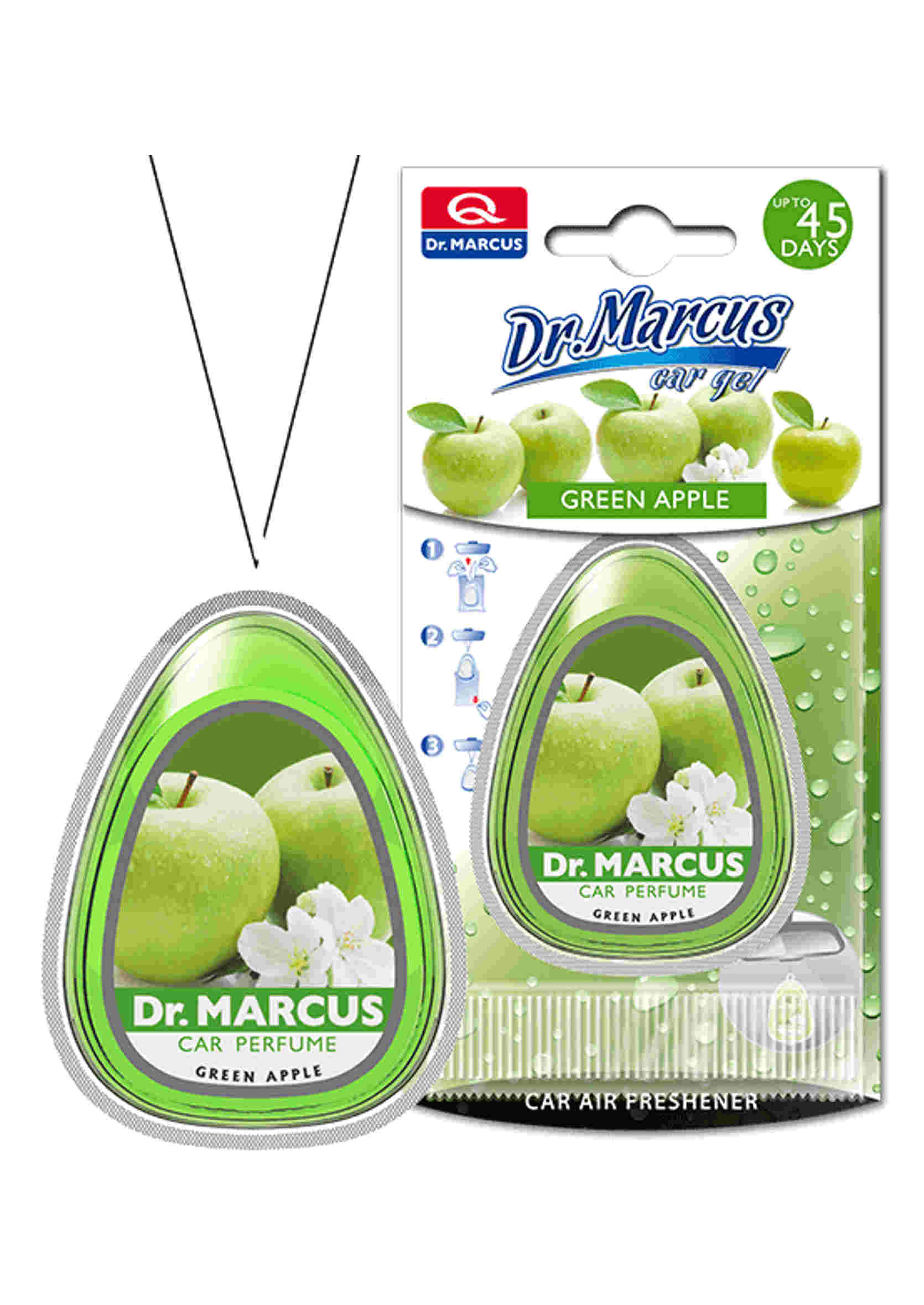 Dr. Marcus Car Gel Green Apple 10ml Żelowy Odświeżacz Powietrza Jabłkowy