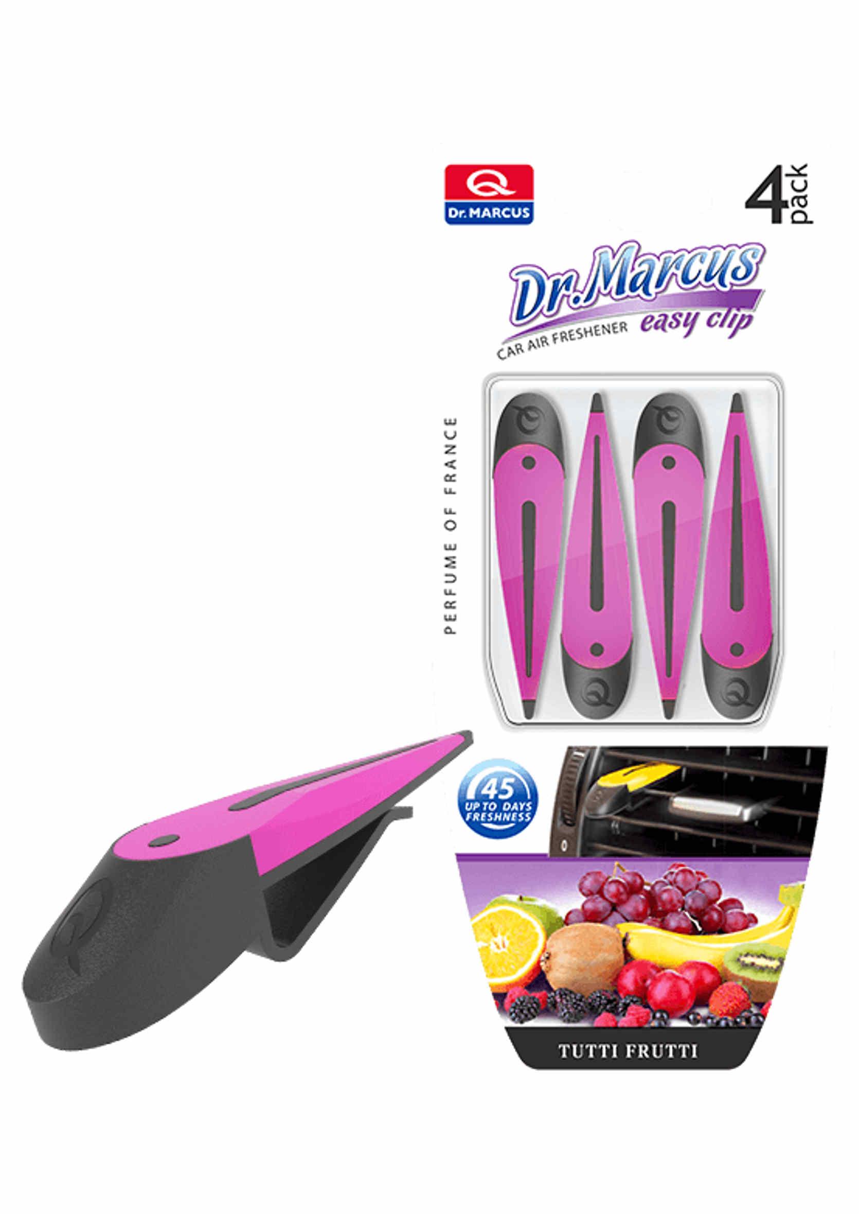 Dr. Marcus Easy Clip Tutti Frutti 4szt. Zapach Samochodowy