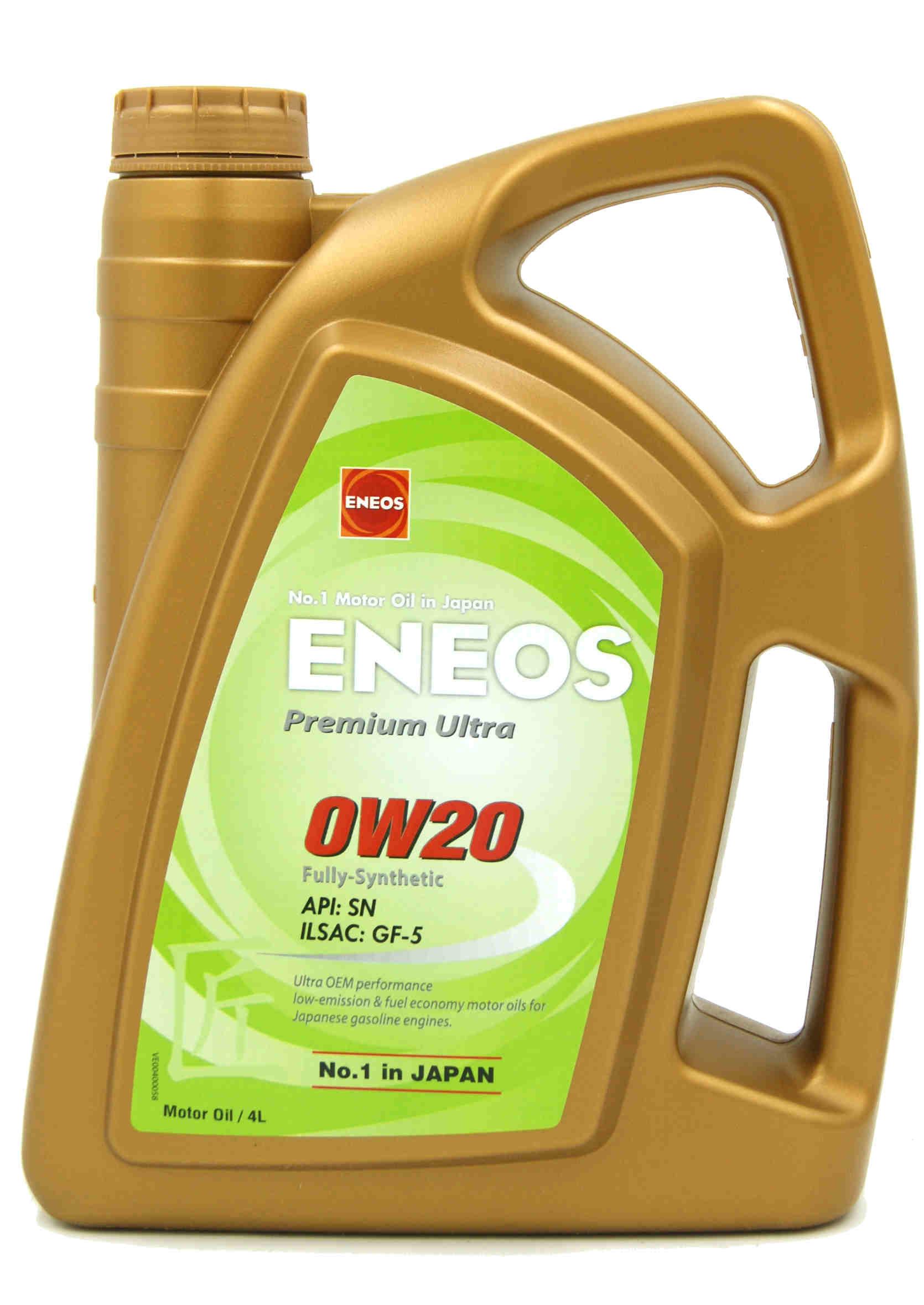 Eneos Premium Ultra 0W20 4L Olej Silnikowy Syntetyczny