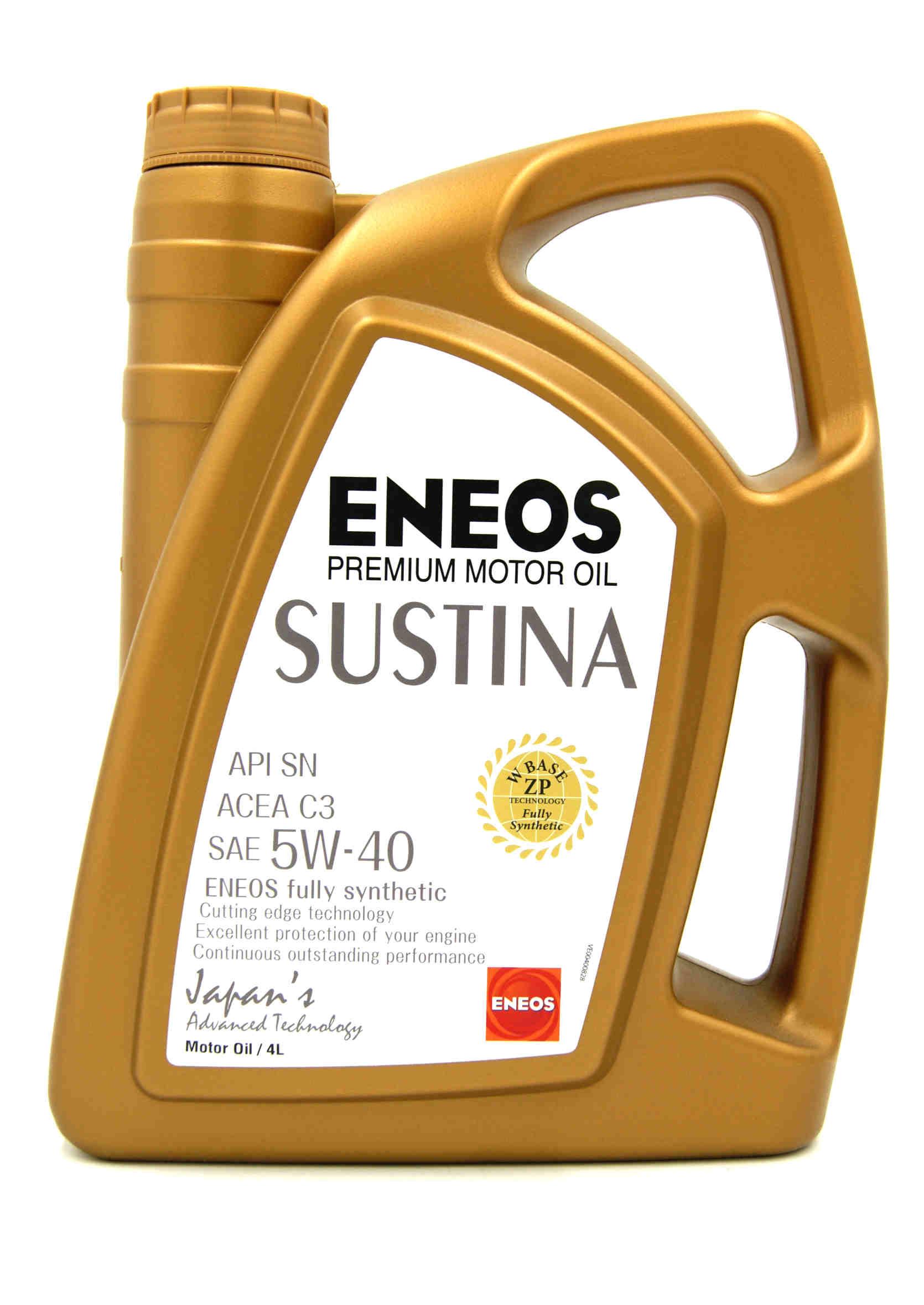 Eneos Sustina 5W40 4L Olej Silnikowy Syntetyczny