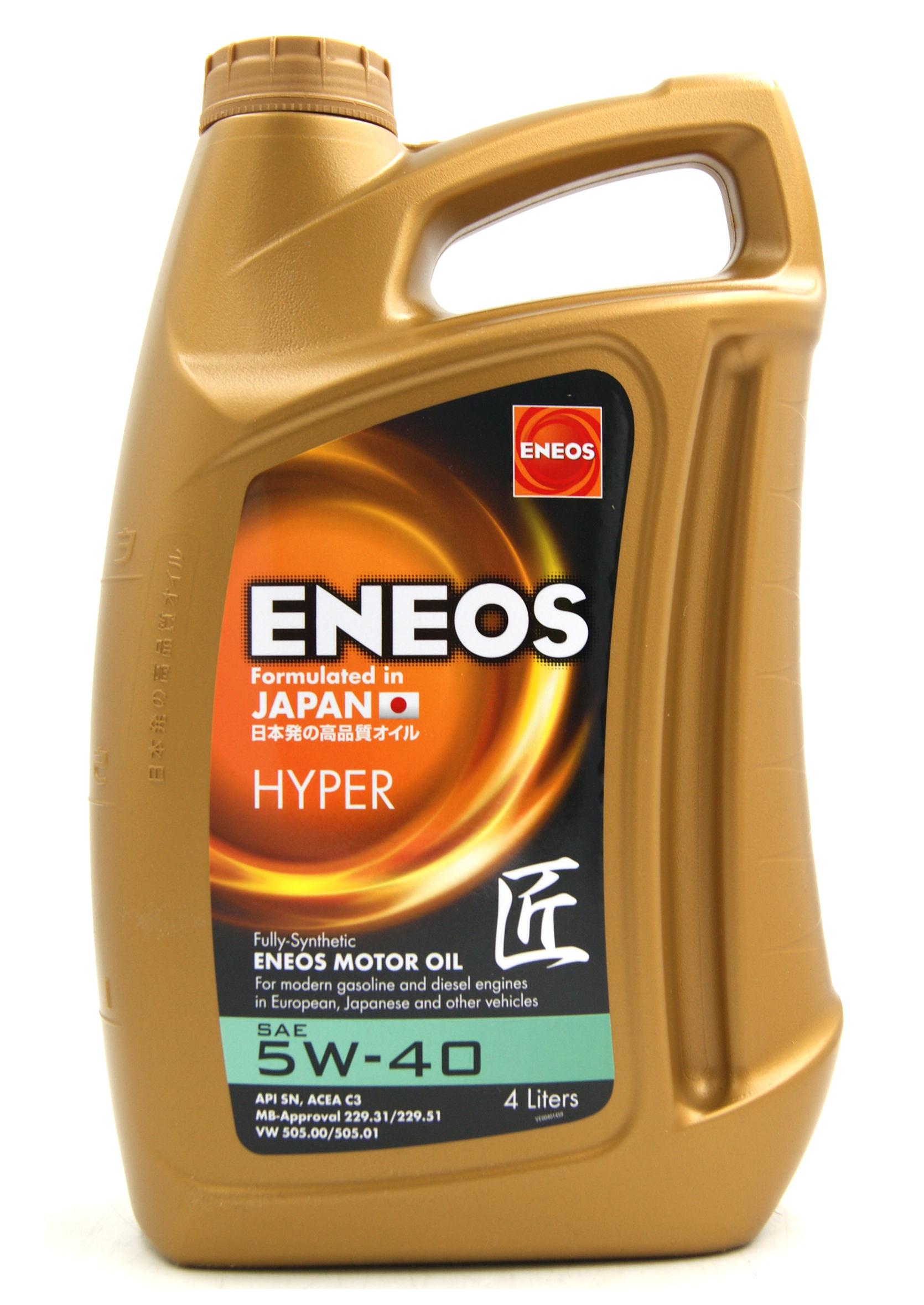 Eneos Premium Hyper 5W40 4L Olej Silnikowy Syntetyczny