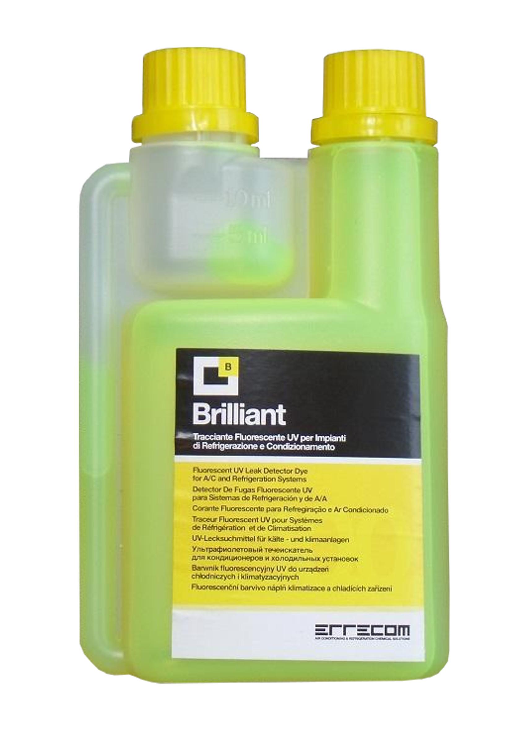 Errecom Brilliant 250ml Fluorescencyjny Barwnik UV do Klimatyzacji Kontrast