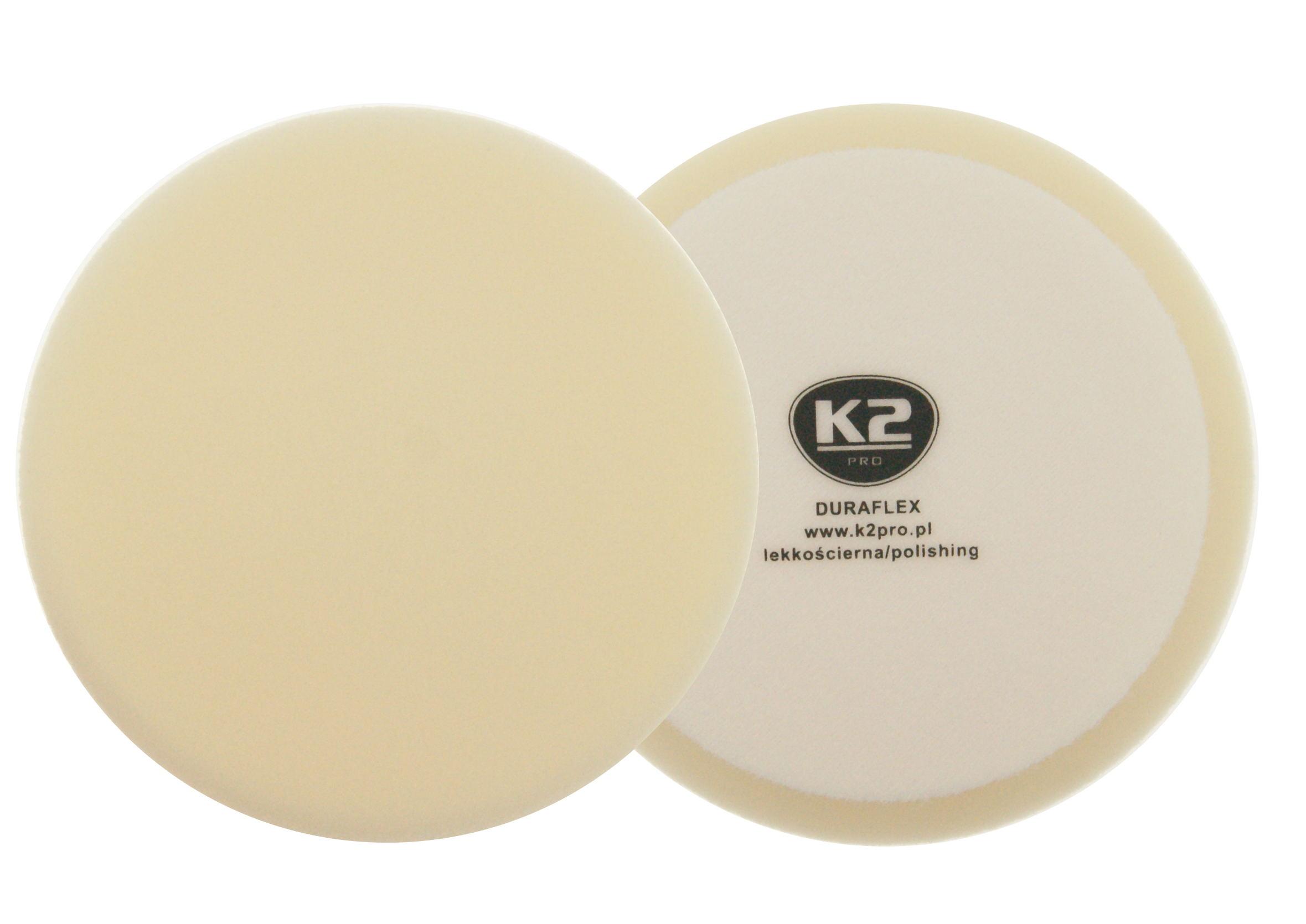K2 Duraflex Pad Polerski na Rzep Lekko Ścierny Biały 150 mm