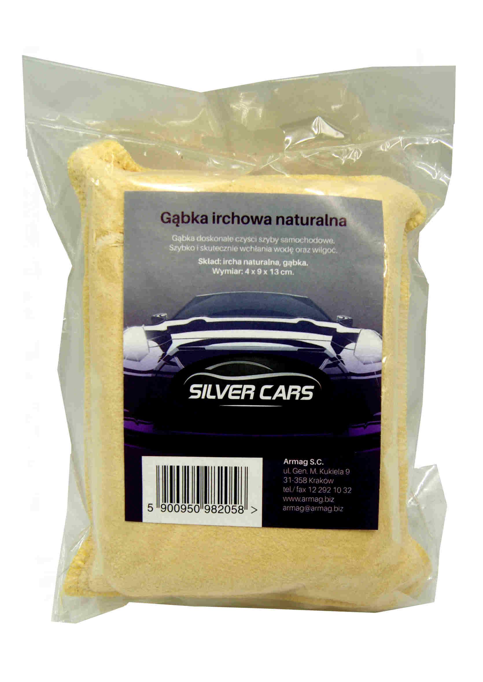 SilverCars Gąbka Irchowa naturalna Ircha do szyb samochodowych
