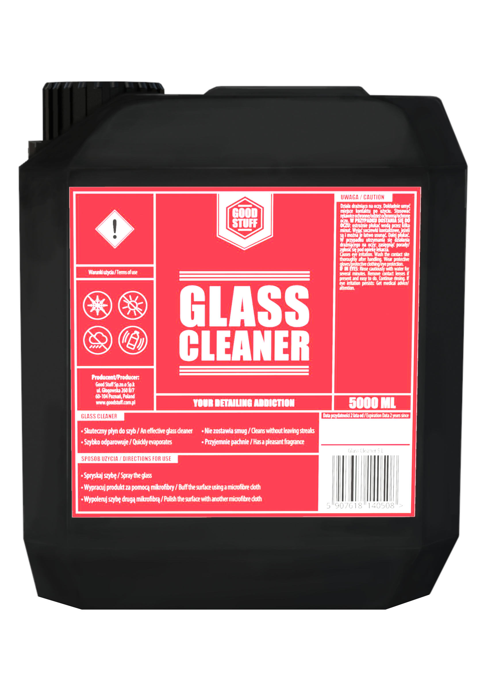 Good Stuff Glass Cleaner 5L Płyn do Mycia Szyb