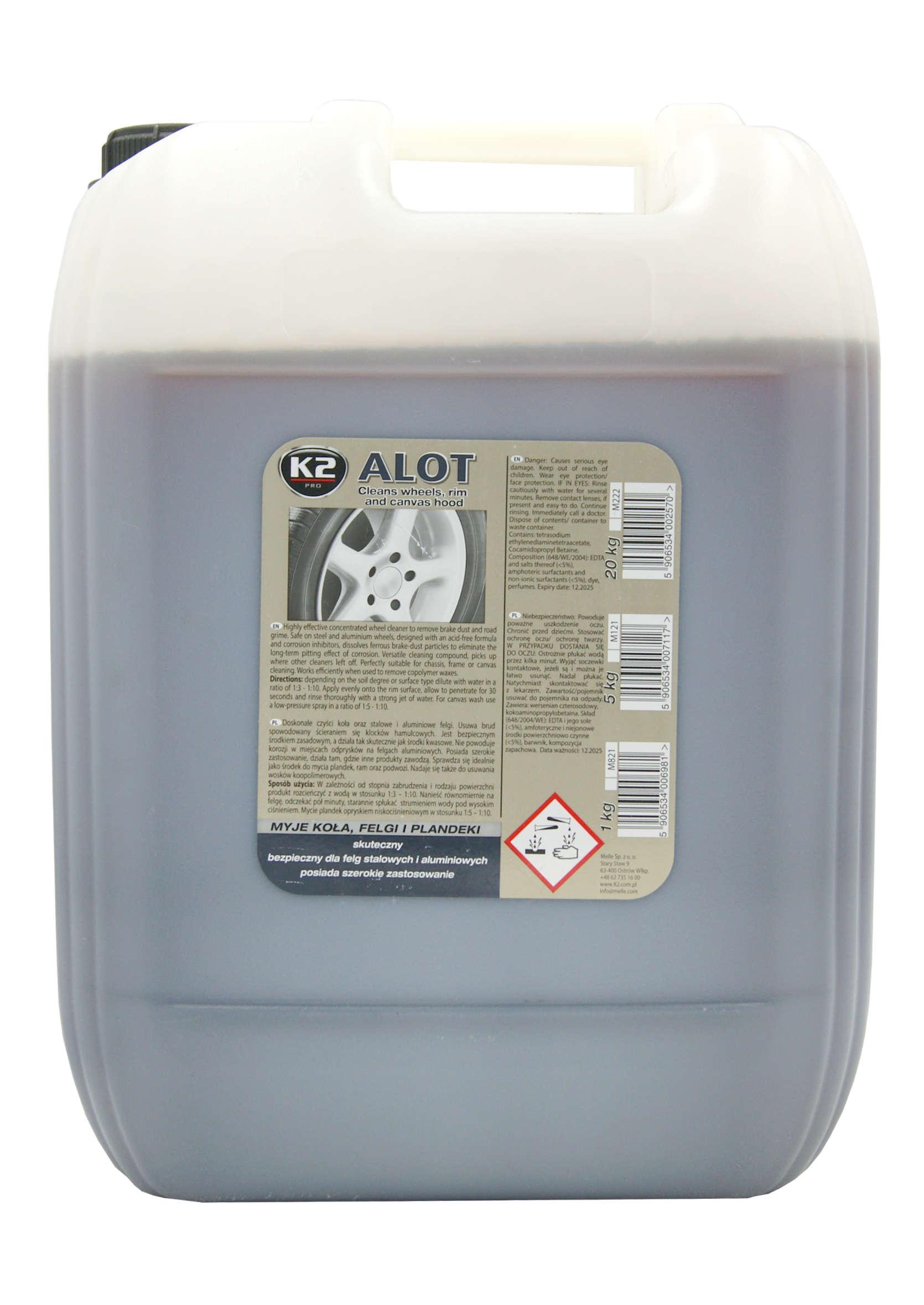 Środek do Mycia Felg i Plandek K2 Pro Alot 20 Kg