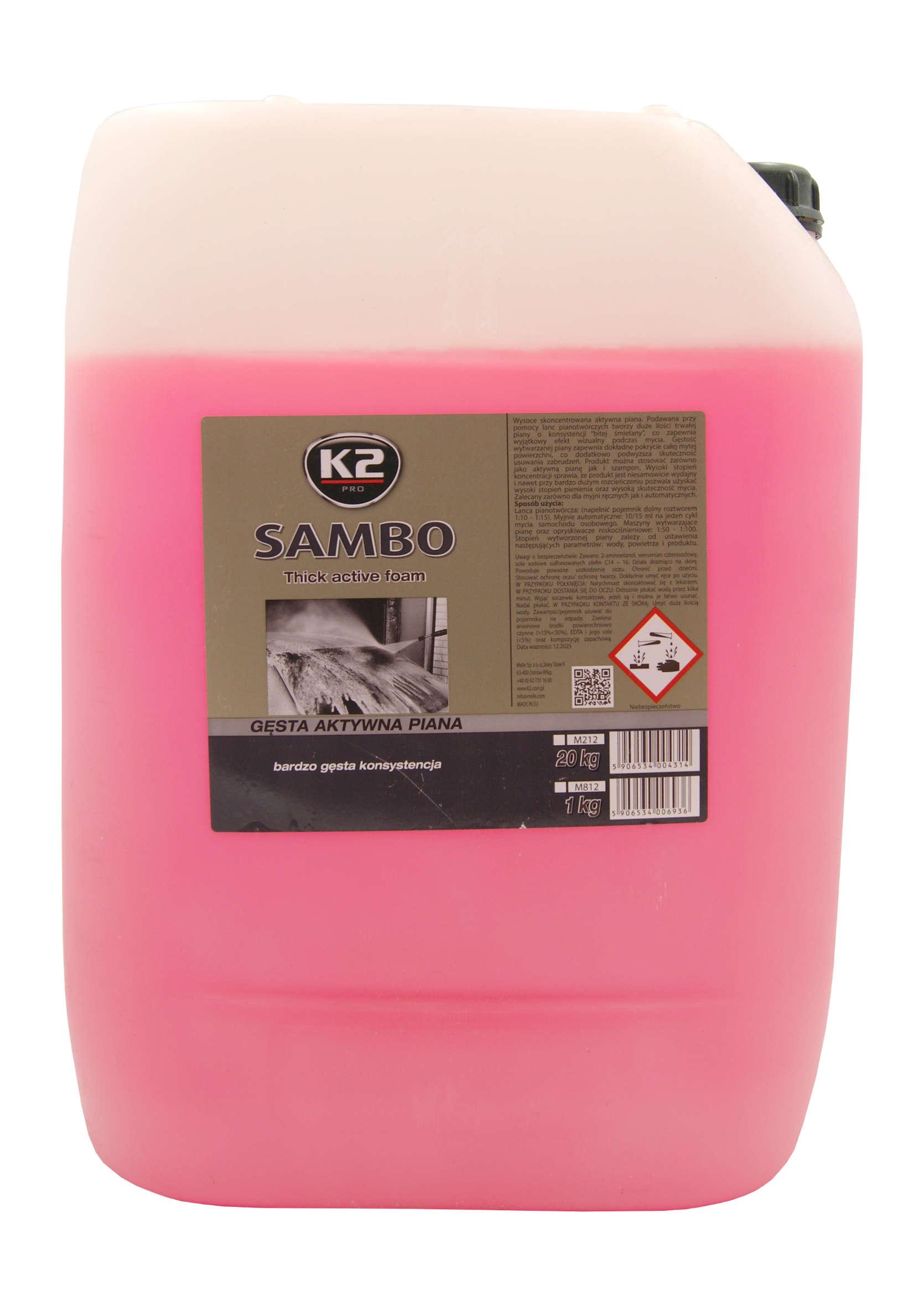 K2 Sambo Aktywna Piana Zapachowa do Wstępnego Mycia Samochodów 20kg