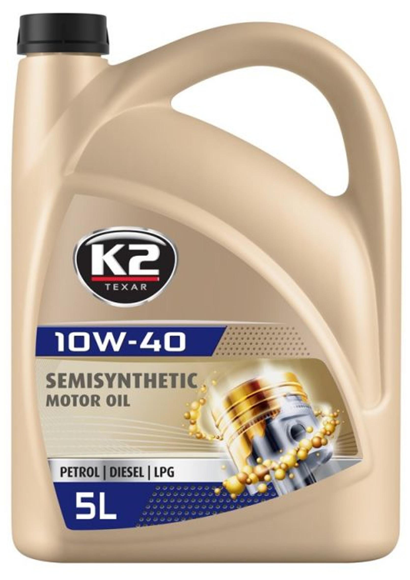 K2 Textar 10W-40 5L Półsyntetyczny Olej silnikowy