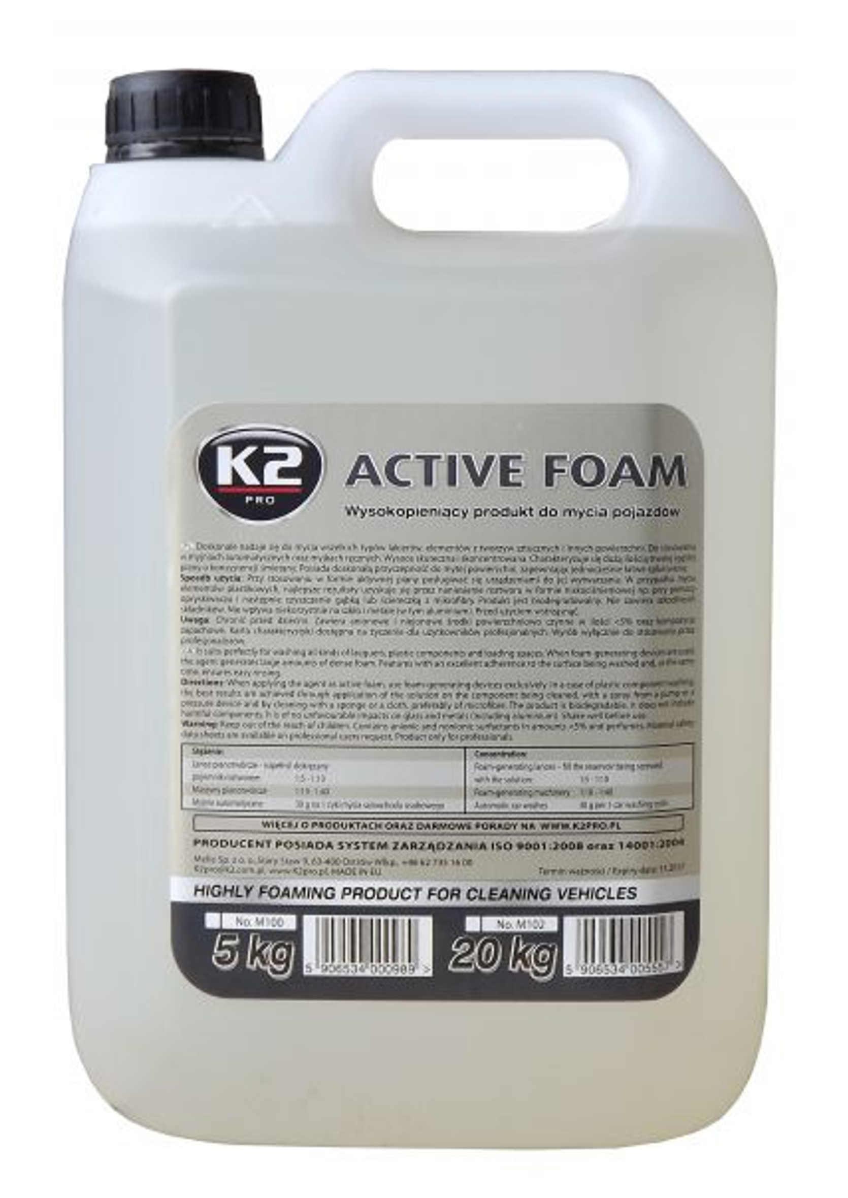 K2 Active Foam Piana Aktywna do Wstępnego Mycia Samochodów 5kg