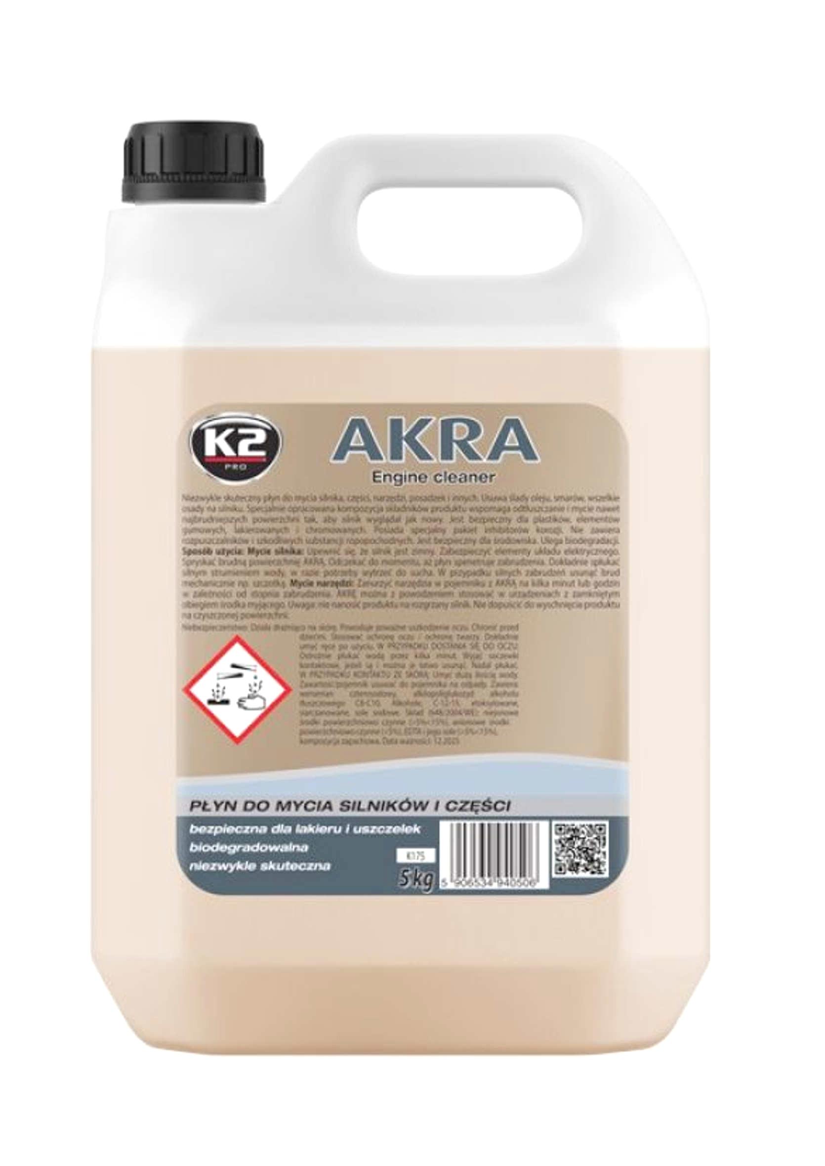 K2 Akra 5L Płyn do Mycia Silnika Części Narzędzi