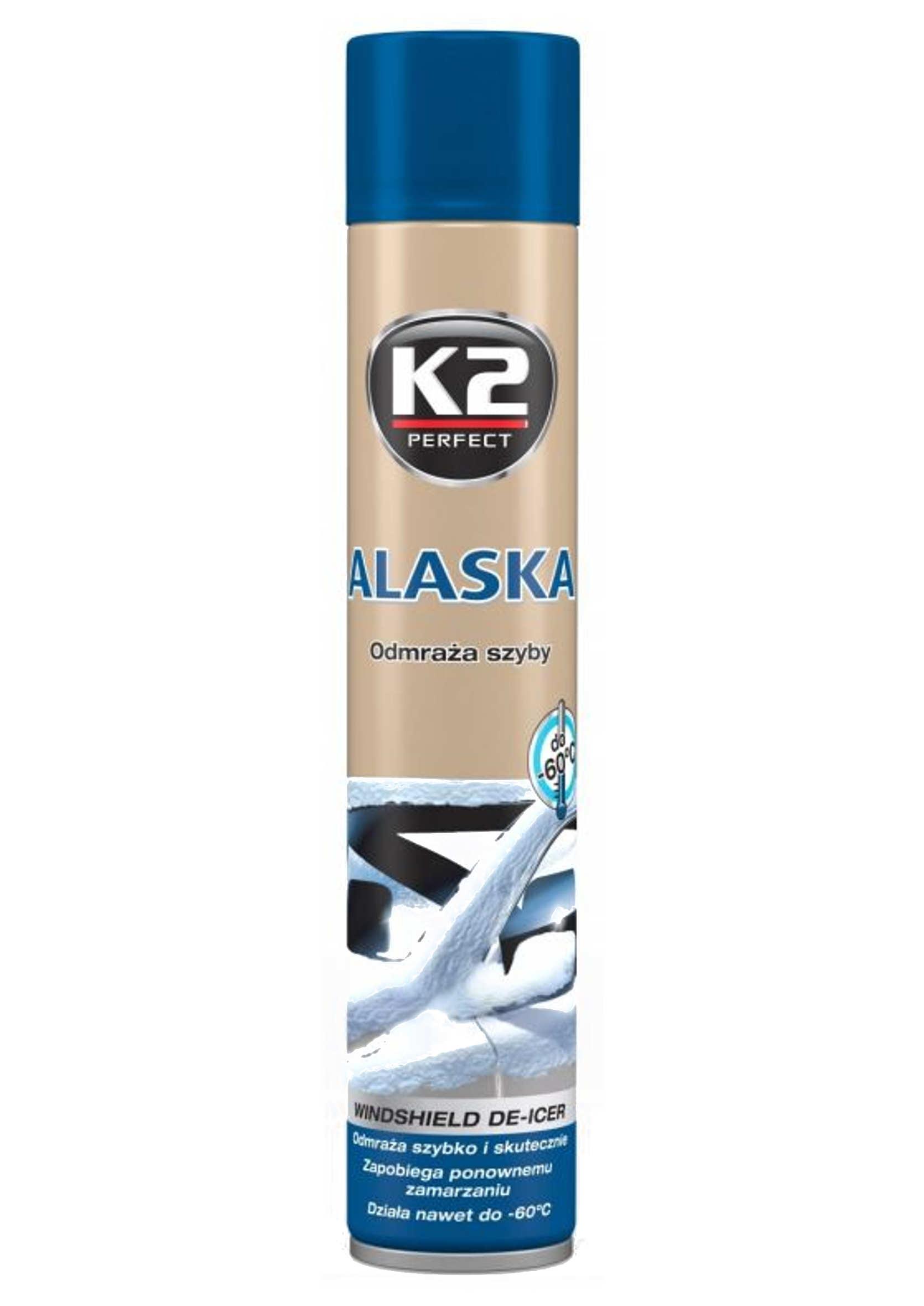K2 Alaska 750ml Odmrażacz do szyb w samochodzie spray -60C