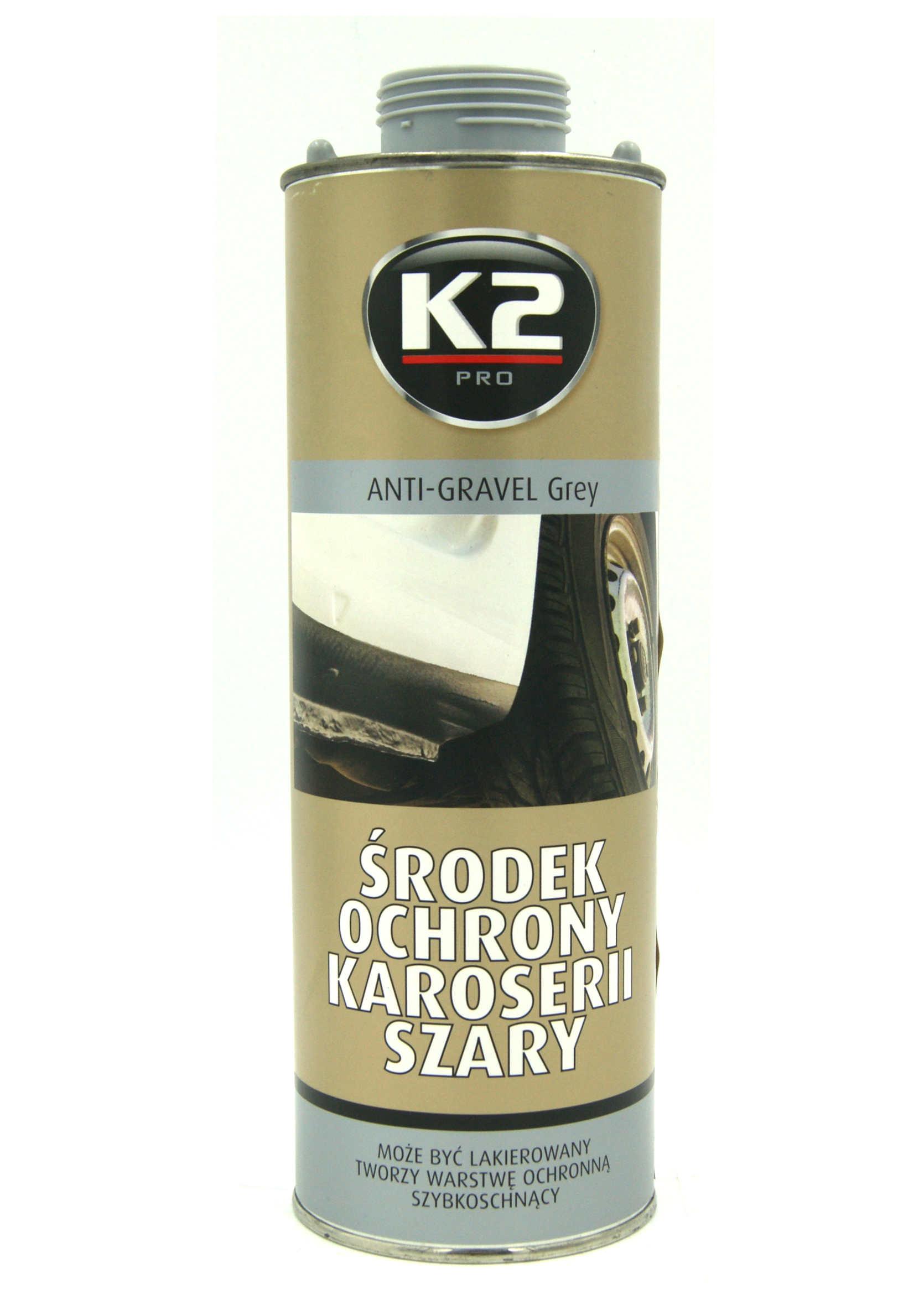 K2 Środek Ochrony Karoserii Szary 1L Baranek do Konserwacji Podwozia na Pistolet