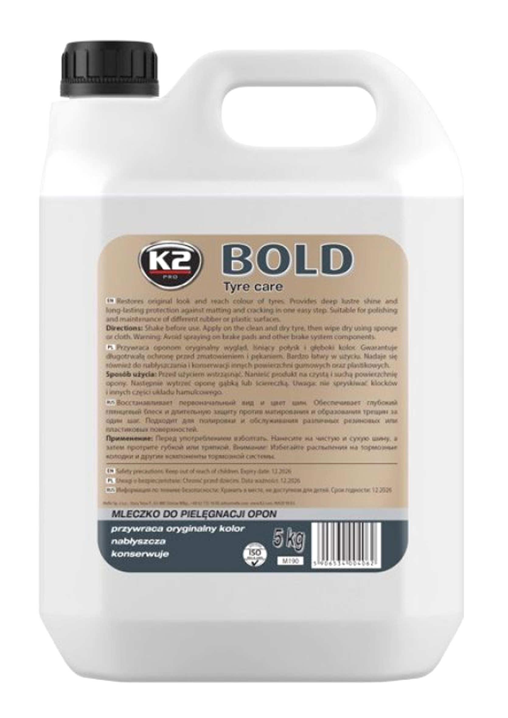 K2 Bold 5L Preparat do pielęgnacji i nabłyszczania opon