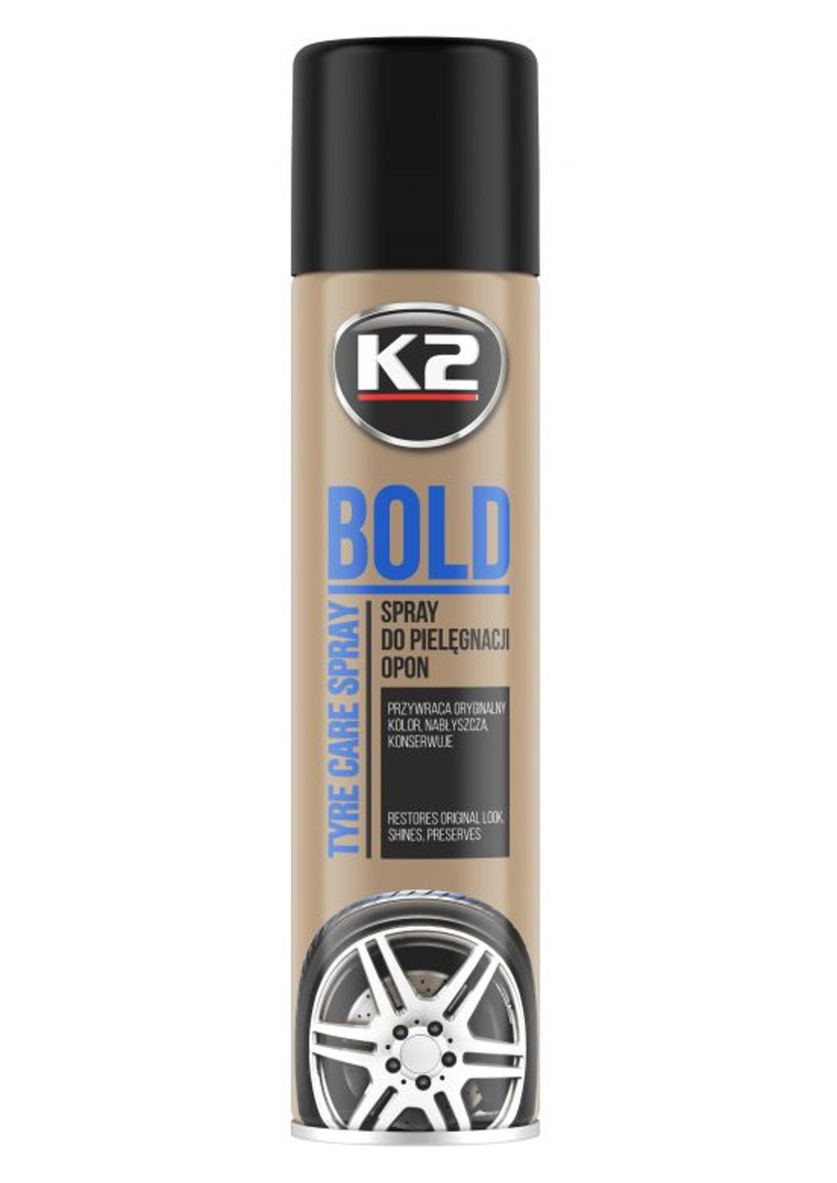 K2 Bold 600ml Spray Pianka do Nabłyszczania i Pielęgnacji Opon