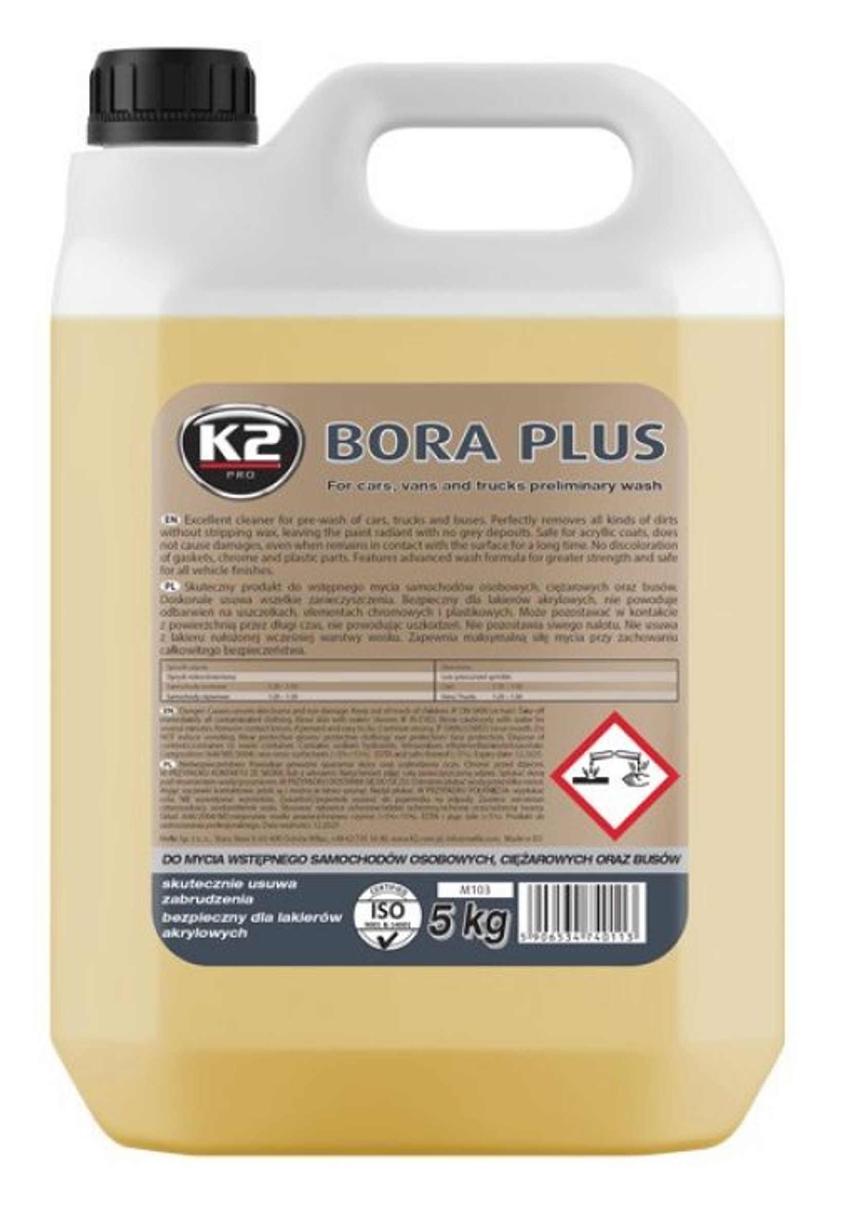 K2 Bora Plus Piana Aktywna do Mycia Aut Osobowych Ciężarowych Busów 5kg