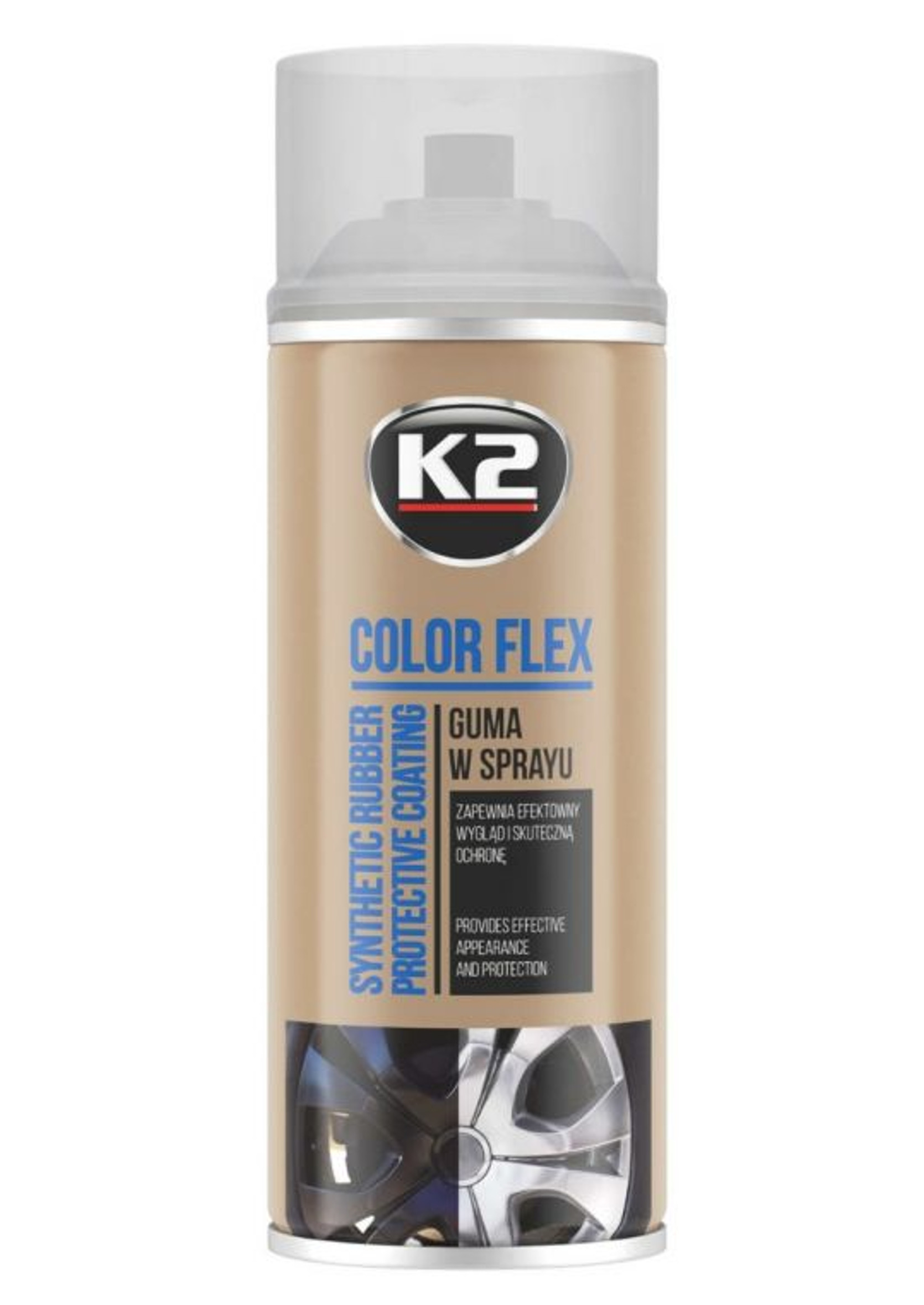 K2 Color Flex Bezbarwny 400ml Guma w Sprayu