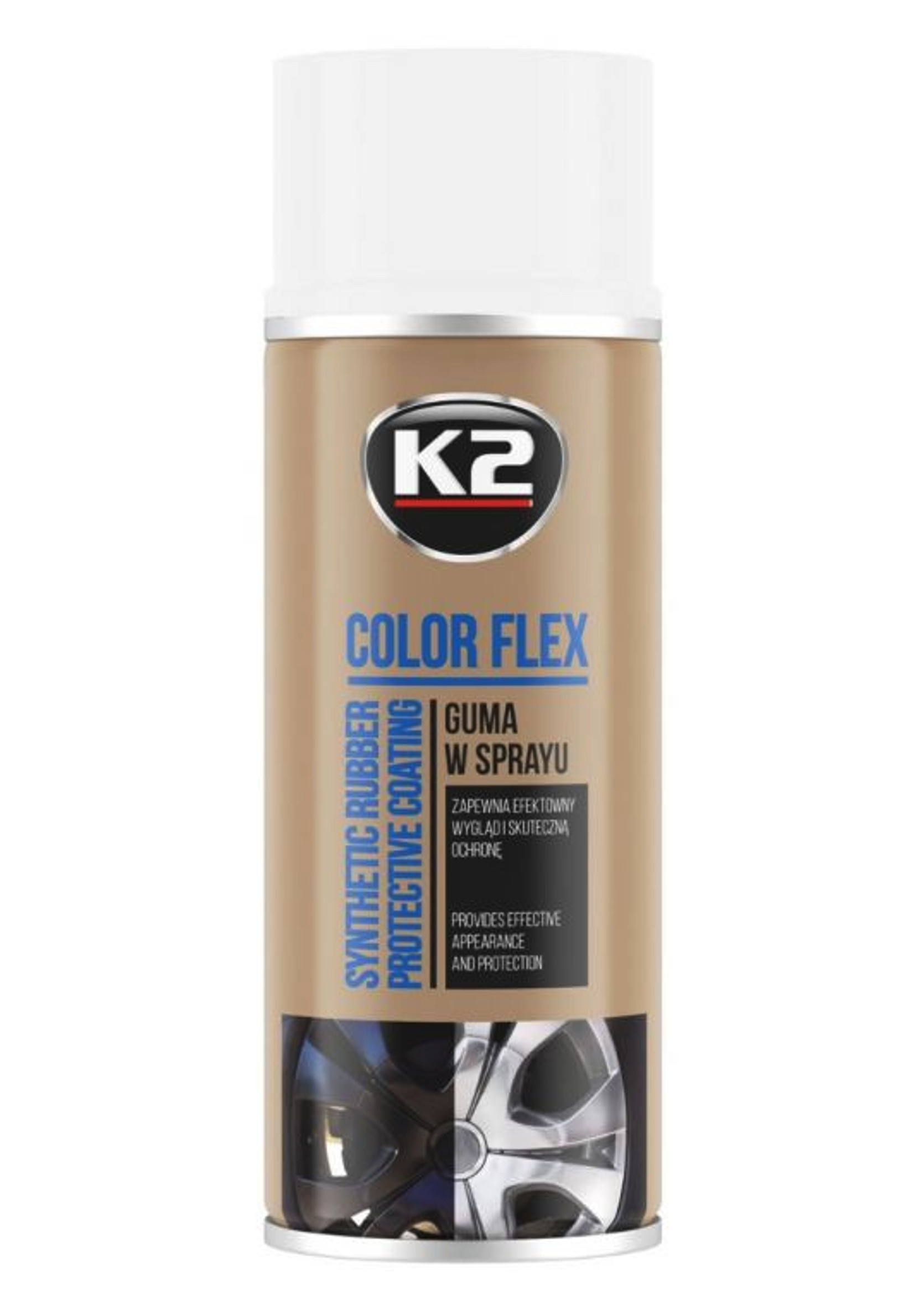 K2 Color Flex Biały 400ml Guma w Sprayu