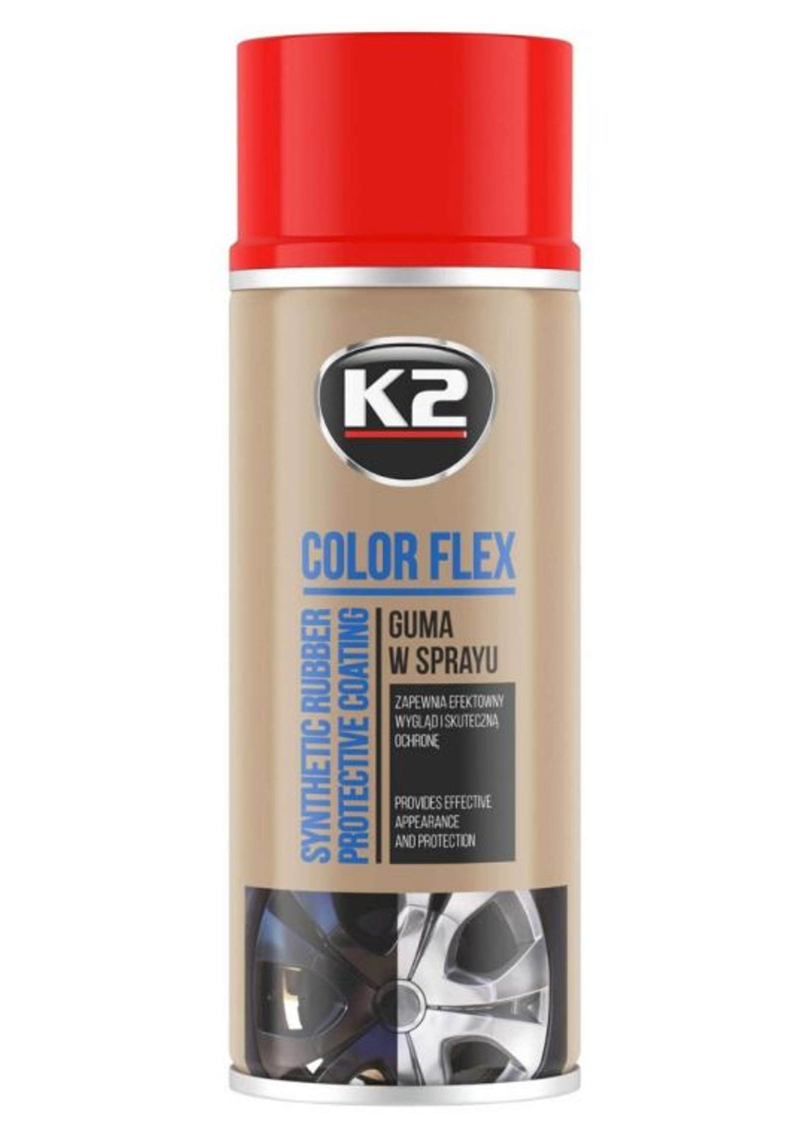 K2 Color Flex Czerwony 400ml Guma w Sprayu
